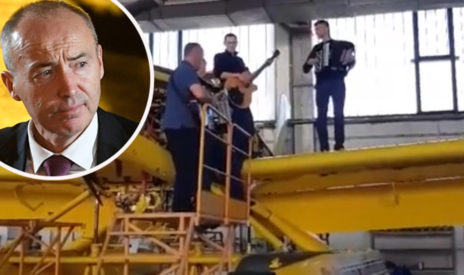 Svirka na air tractoru i Damir Krstičević u krugu
