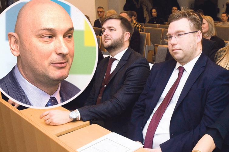 Gordan Gledec (lijevo), Tomislav Ćorić i Marko Pavić (desno)