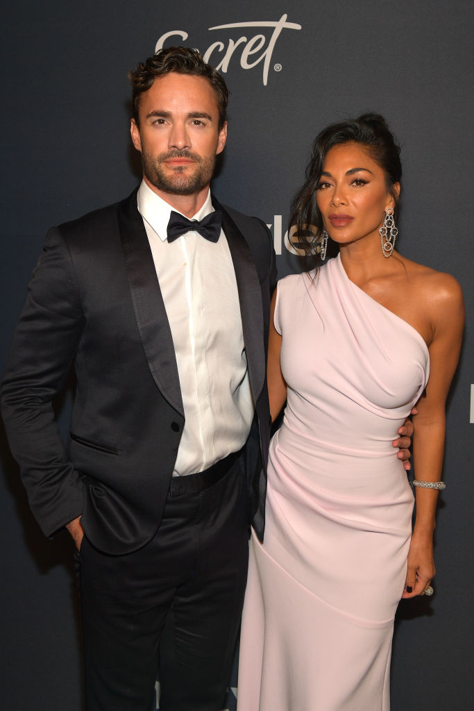 BEVERLY HILLS, CALIFORNIA - JANUARY 05:  (L-R) Thom Evans and Nicole Scherzinger attend The 2020 InStyle And Warner Bros. 77th Annual Golden Globe Awards Post-Party at The Beverly Hilton Hotel on January 05, 2020 in Beverly Hills, California. (Photo by Matt Winkelmeyer/Getty Images for InStyle)