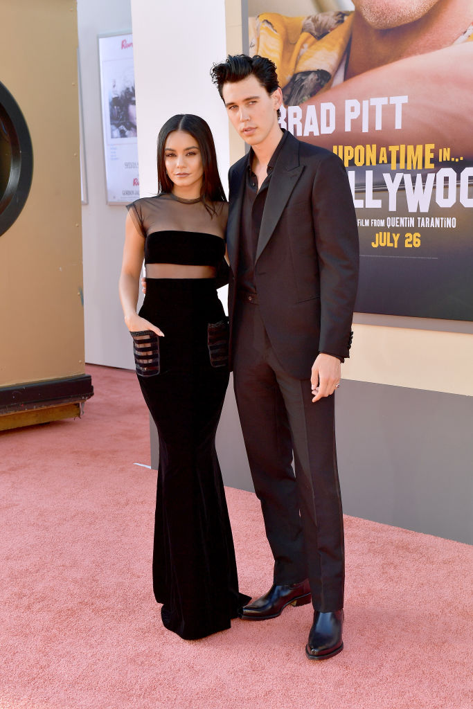HOLLYWOOD, CALIFORNIA - JULY 22: Vanessa Hudgens and Austin Butler attend Sony Pictures'