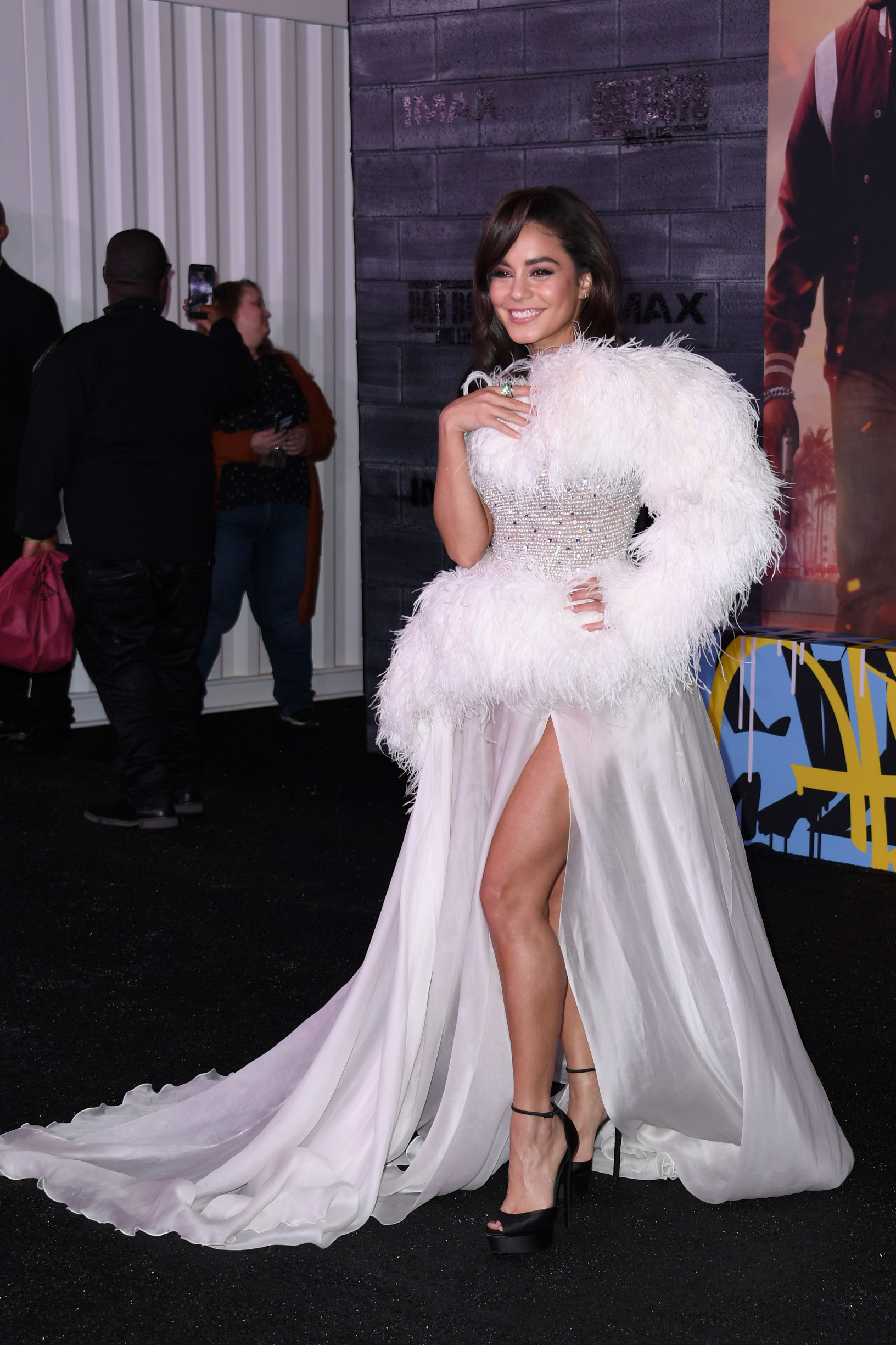 HOLLYWOOD, CALIFORNIA - JANUARY 14: Vanessa Hudgens attends the premiere of Columbia Pictures'