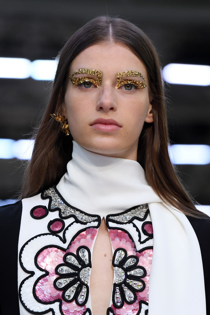 PARIS, FRANCE - SEPTEMBER 29: A model walks the runway during the Valentino Womenswear Spring/Summer 2020 show as part of Paris Fashion Week on September 29, 2019 in Paris, France. (Photo by Pascal Le Segretain/Getty Images)
