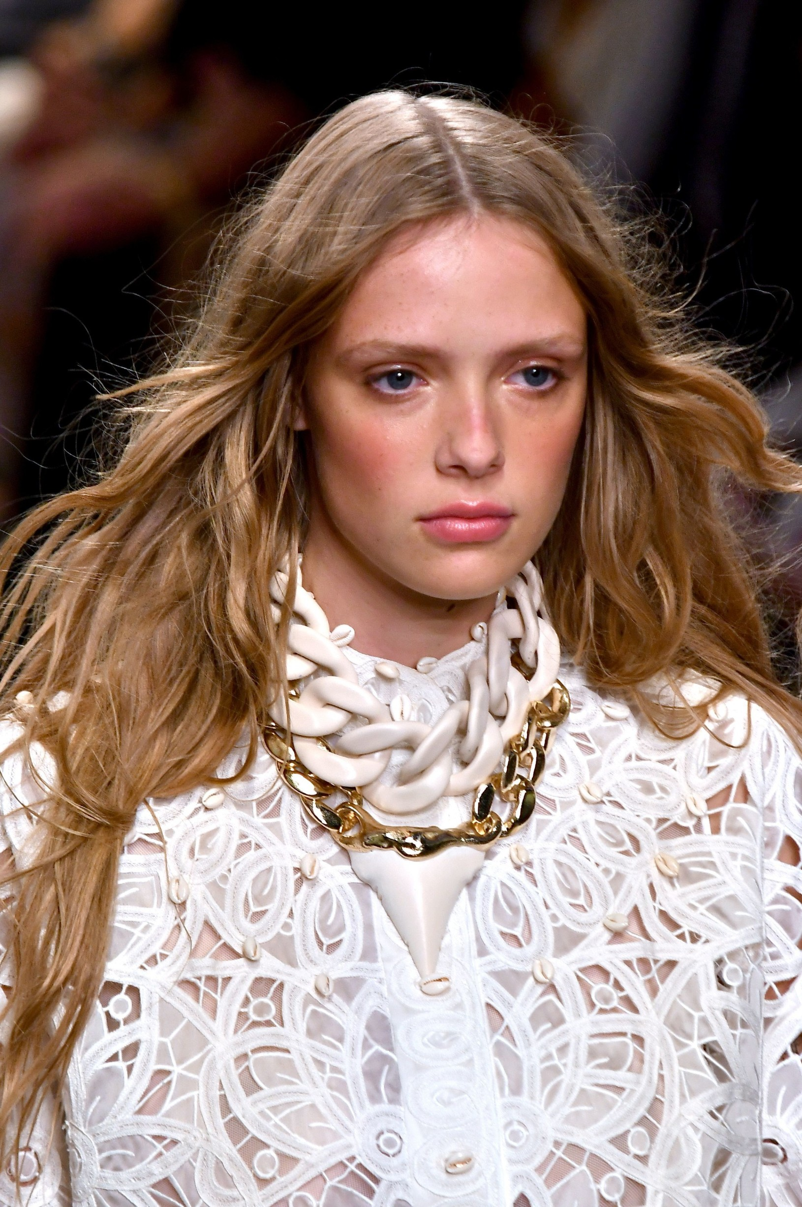Model on catwalk, fashion detail Zimmermann show, Runway, Spring Summer 2020, New York Fashion Week, USA - 09 Sep 2019, Image: 469975281, License: Rights-managed, Restrictions: , Model Release: no, Credit line: WWD / Shutterstock Editorial / Profimedia