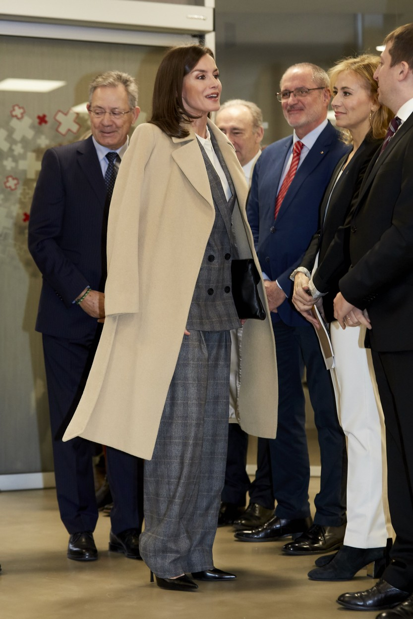 Queen Letizia of Spain attends a meeting with the Spanish Red Cross at Red Cross headquarters in Madrid on January 16, 2020 in Madrid, Spain.//CORDOBANAVALPOTRO_CORDOBA4652/2001161434/Credit:Miguel Cordoba/SIPA/2001161436, Image: 493114115, License: Rights-managed, Restrictions: , Model Release: no, Credit line: Miguel Cordoba / Sipa Press / Profimedia
