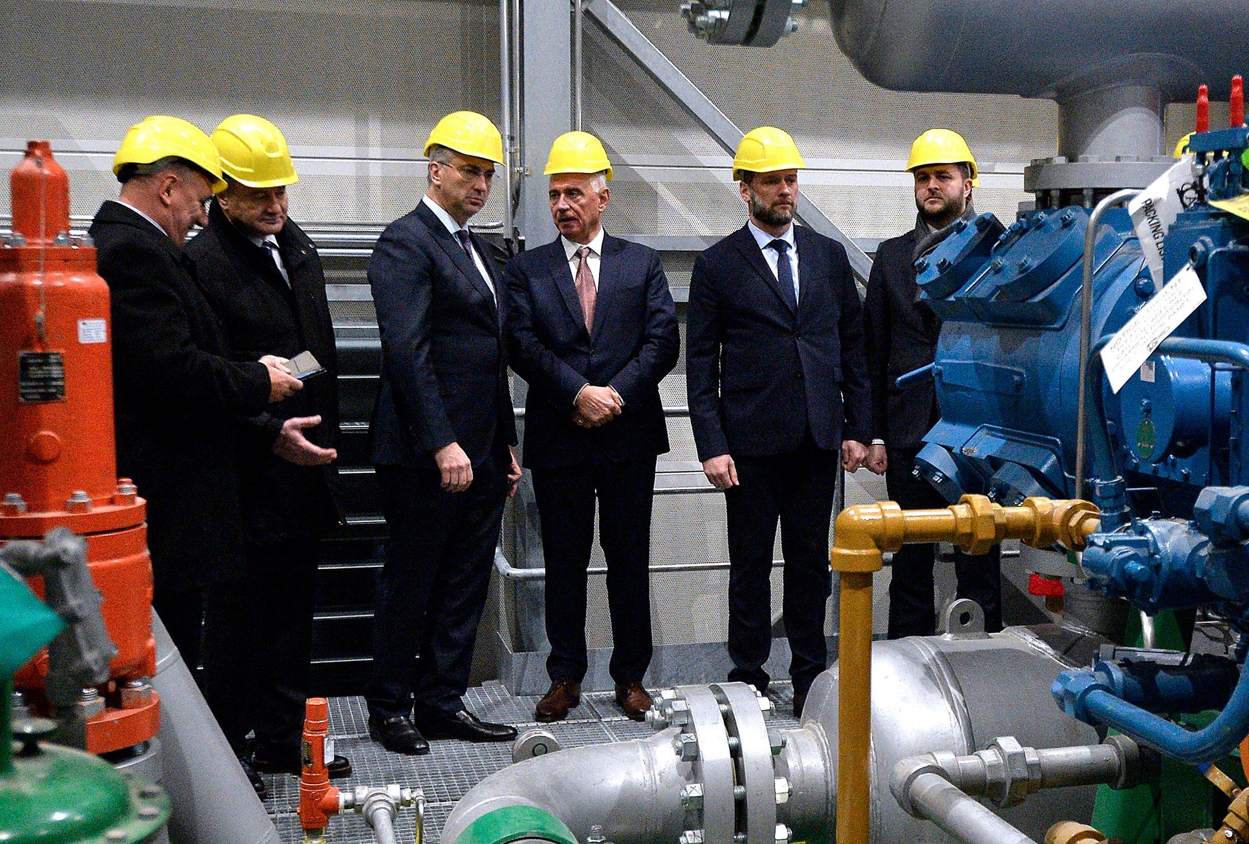 Andrej Plenković na svečanom otvaranju prve kompresorske stanice na plinskom transportnom sustavu
