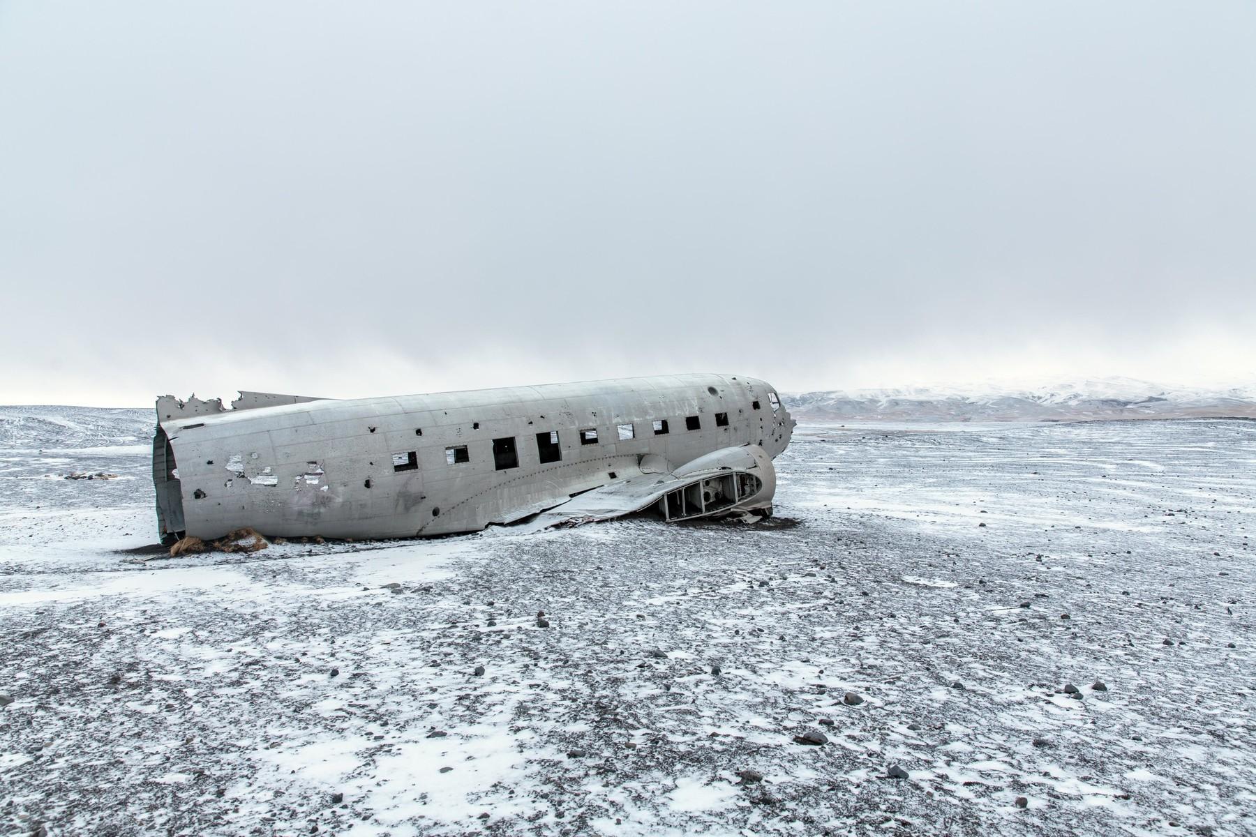 olupina zrakoplova u Solheimasanduru