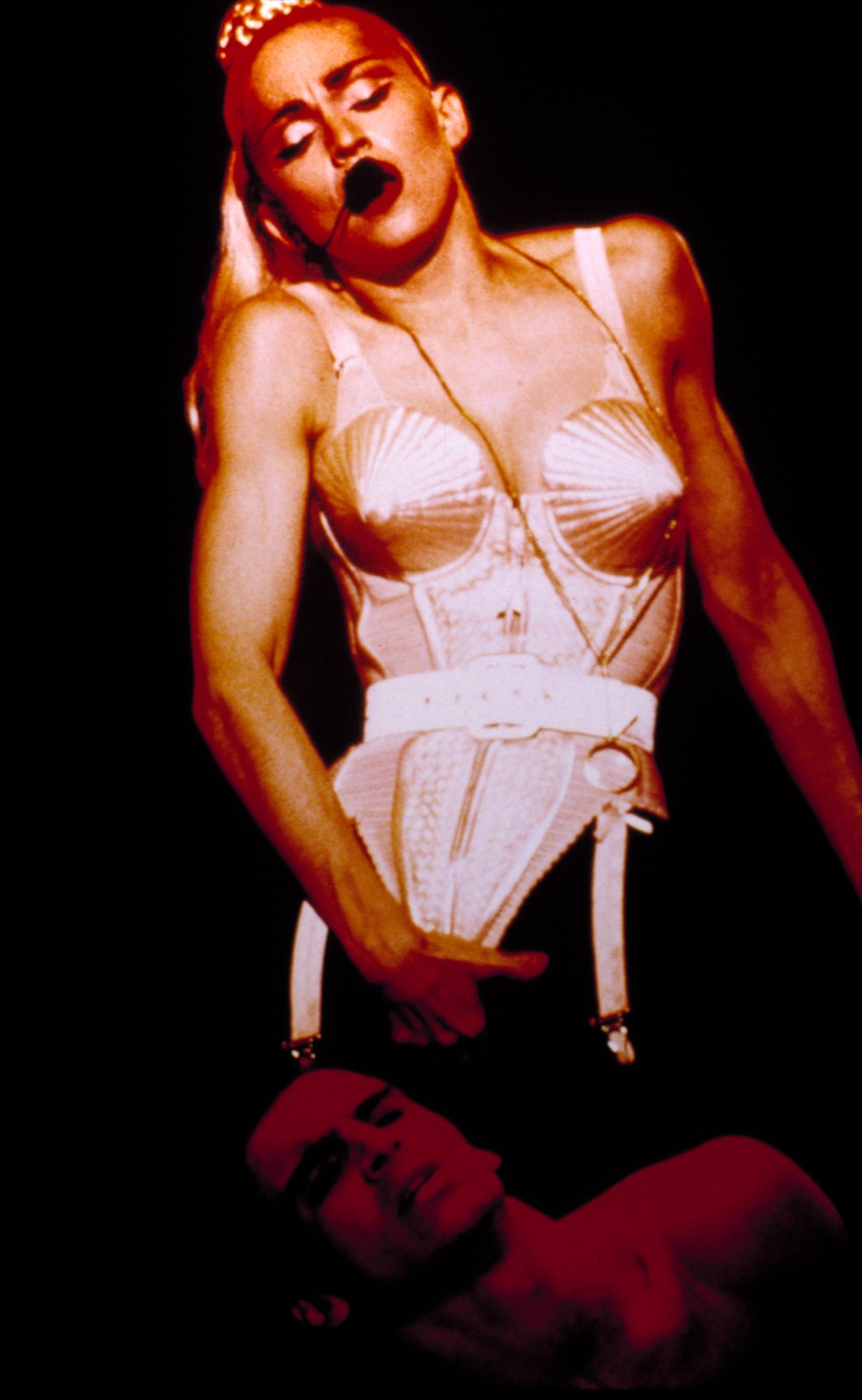 TRUTH OR DARE, Madonna, Blonde Ambition Tour (corset by Jean-Paul Gaultier), 1990-91., Image: 98341940, License: Rights-managed, Restrictions: For usage credit please use; Courtesy Everett Collection, Model Release: no, Credit line: Courtesy Everett Collection / Everett / Profimedia
