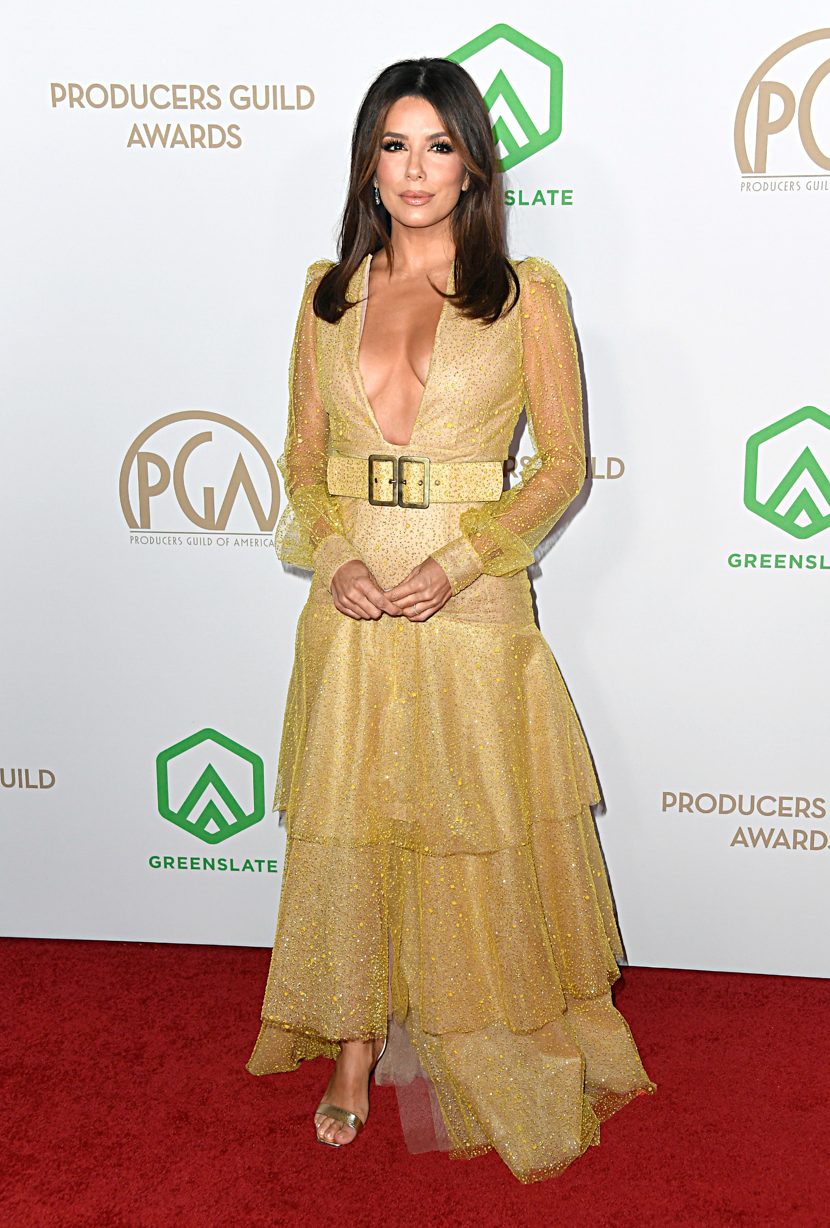 LOS ANGELES, CALIFORNIA - JANUARY 18: Eva Longoria attends the 31st Annual Producers Guild Awards at Hollywood Palladium on January 18, 2020 in Los Angeles, California. (Photo by Frazer Harrison/Getty Images)
