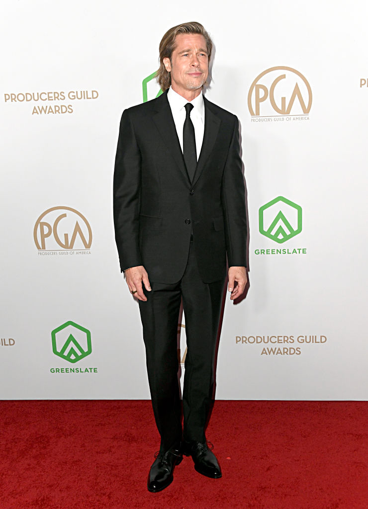 LOS ANGELES, CALIFORNIA - JANUARY 18: Brad Pitt attends the 31st Annual Producers Guild Awards at Hollywood Palladium on January 18, 2020 in Los Angeles, California. (Photo by Frazer Harrison/Getty Images)