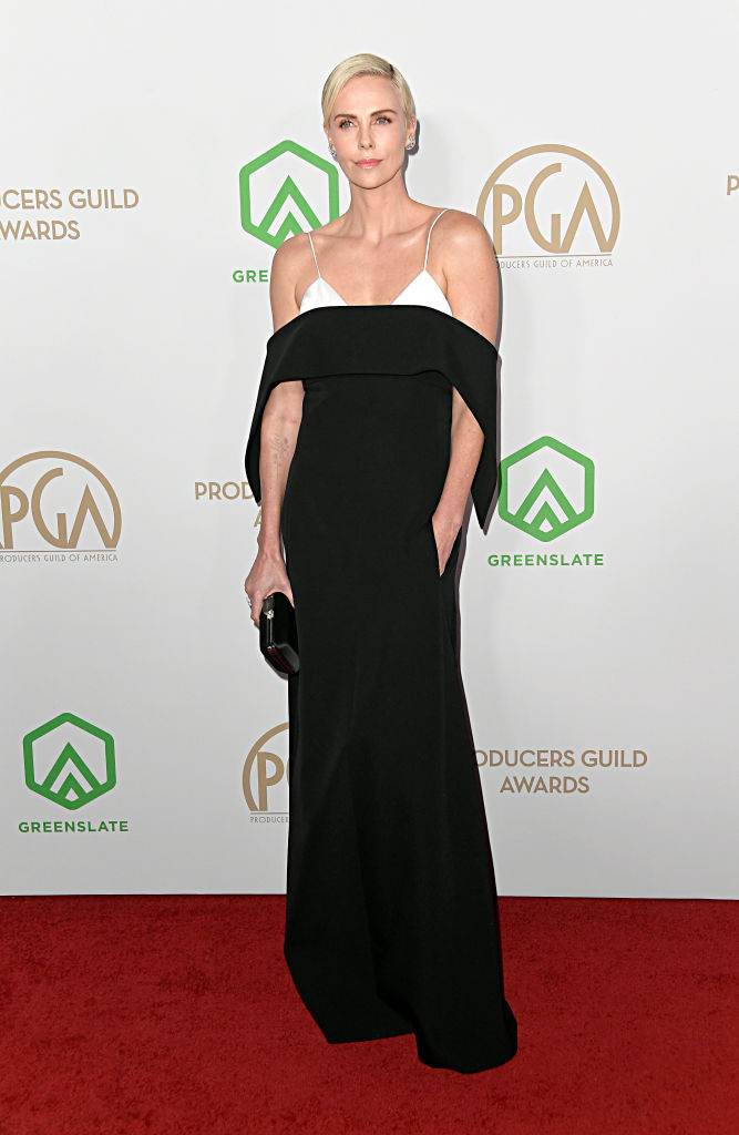 LOS ANGELES, CALIFORNIA - JANUARY 18: Charlize Theron attends the 31st Annual Producers Guild Awards at Hollywood Palladium on January 18, 2020 in Los Angeles, California. (Photo by Frazer Harrison/Getty Images)