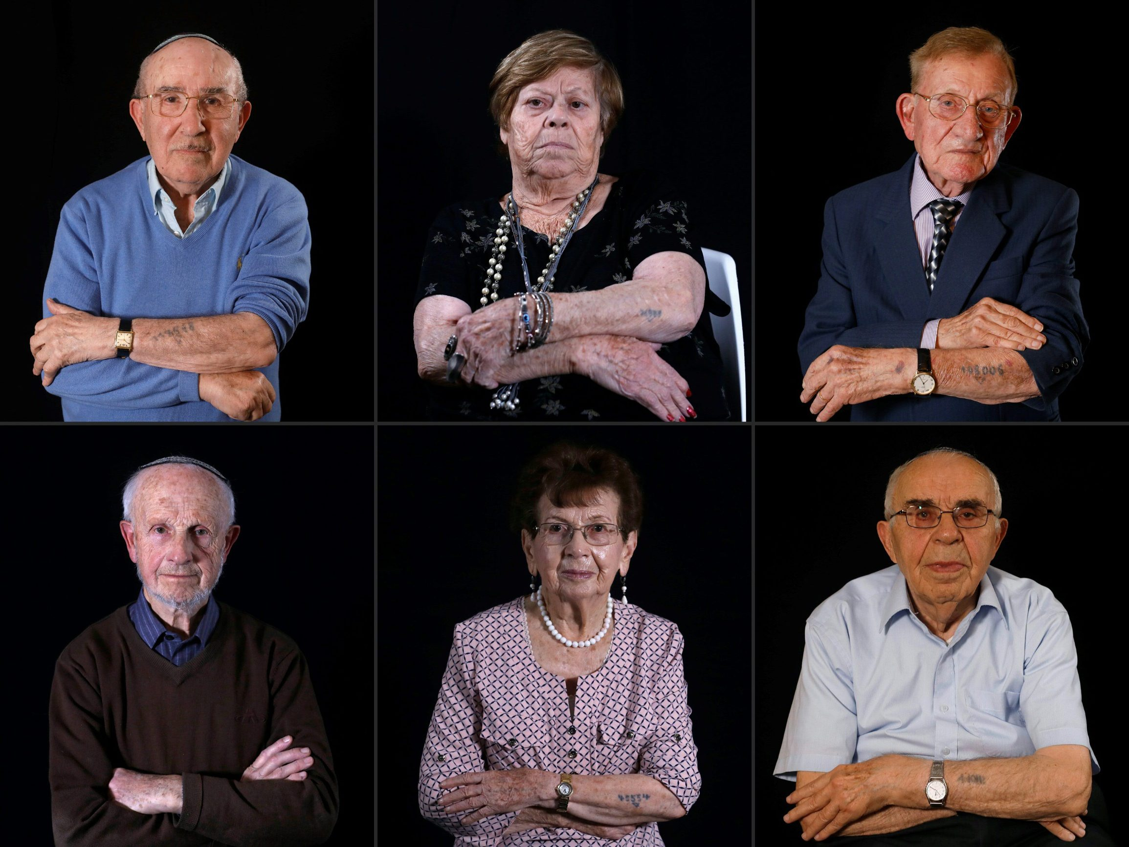 Szmul Icek, Malka Zaken, Shmuel Blumenfeld (gornji red), Saul Oren, Batcheva Dagan, Menahem Haberman (donji red)