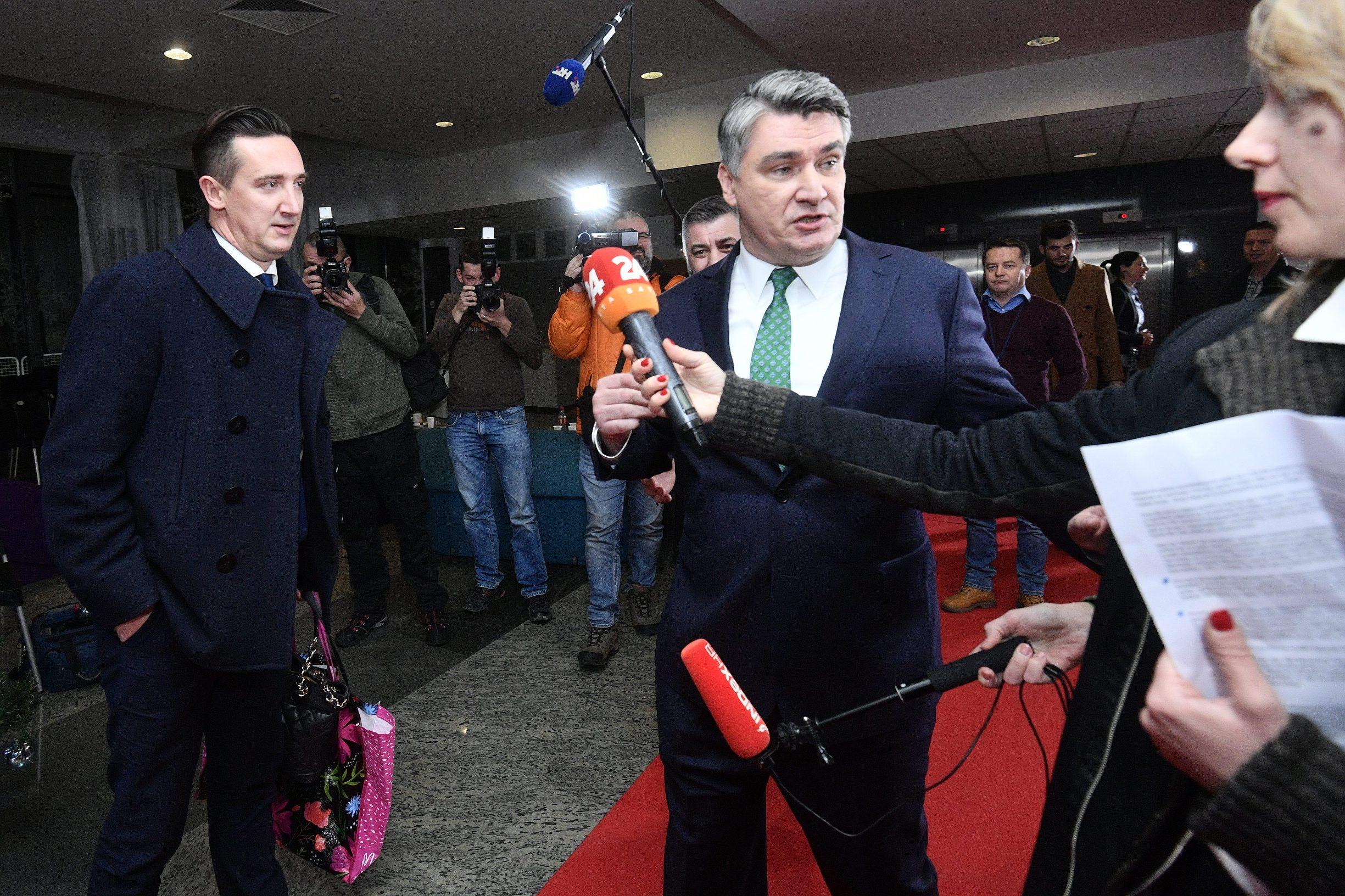 Savjetnik predsjednice Tomislav Madžar (lijevo)
