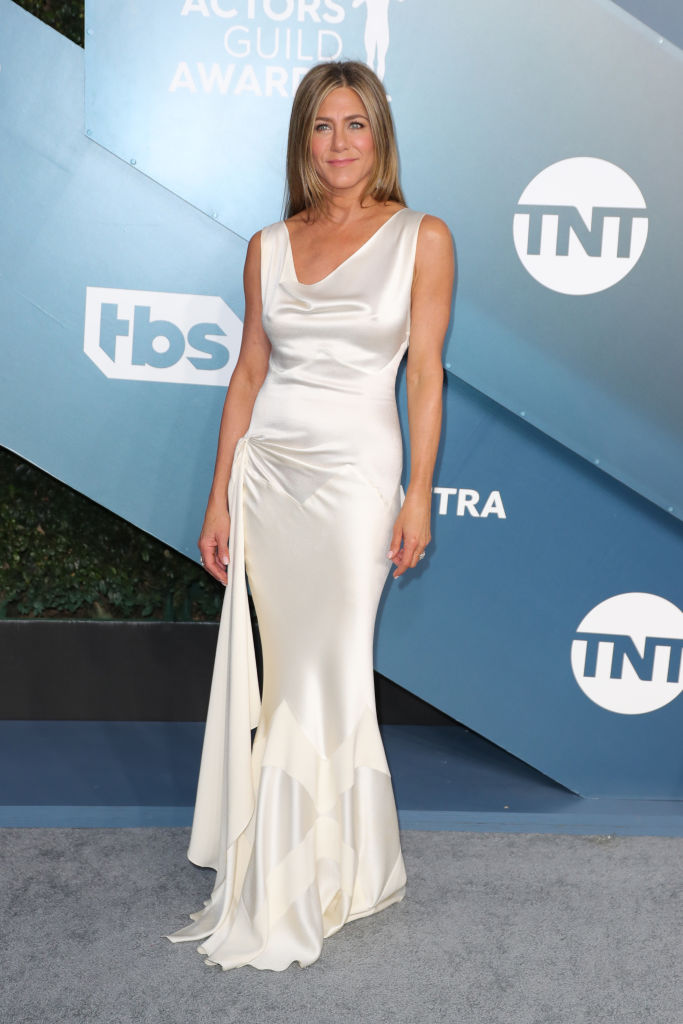 LOS ANGELES, CALIFORNIA - JANUARY 19: Jennifer Aniston attends 26th Annual Screen Actors Guild Awards at The Shrine Auditorium on January 19, 2020 in Los Angeles, California. (Photo by Leon Bennett/Getty Images)