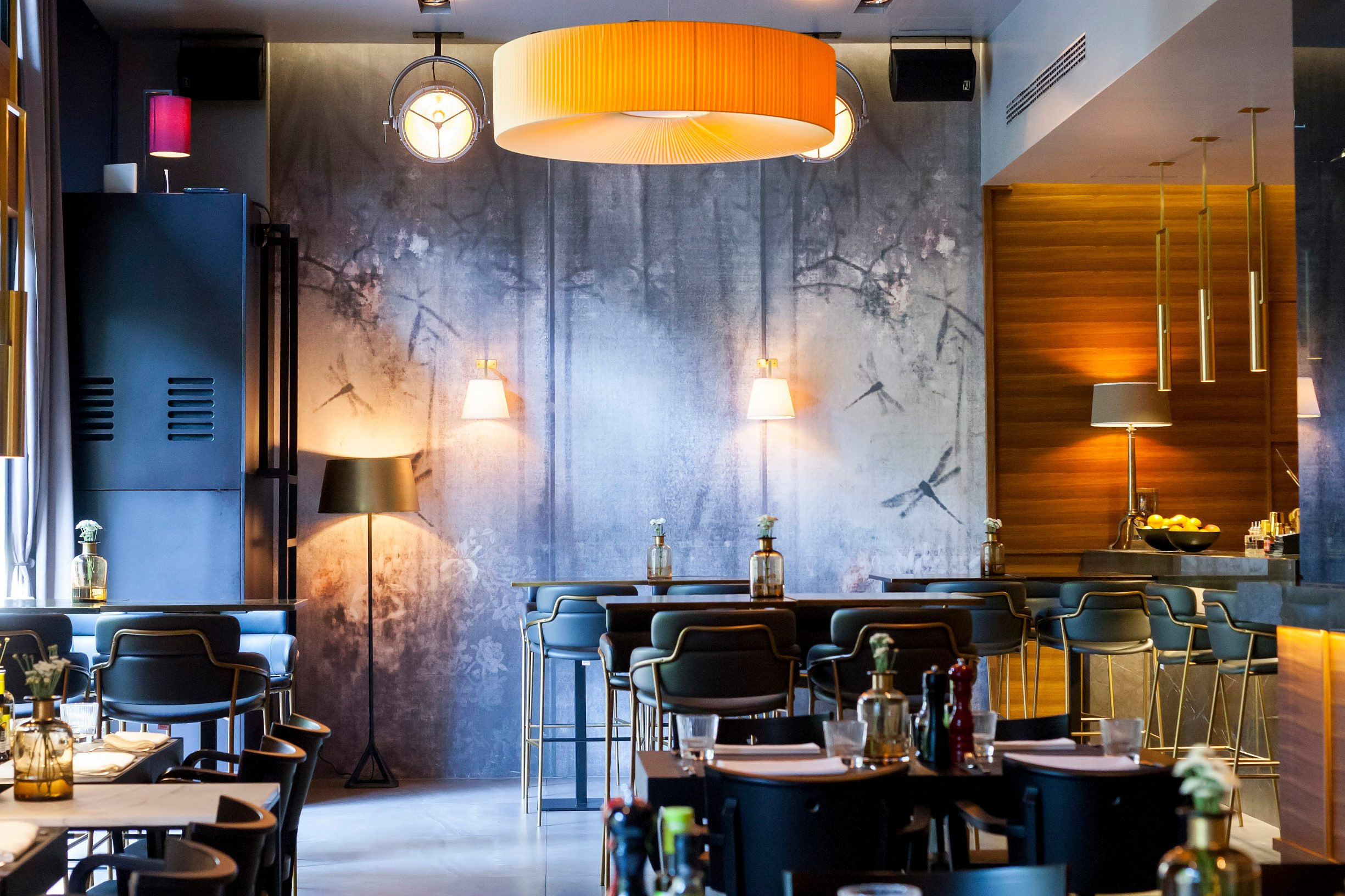 Zagreb, 091018. Kaptol centar. Restoran Barbieris. Na fotografiji: interijer. Foto: Tomislav Kristo / CROPIX
