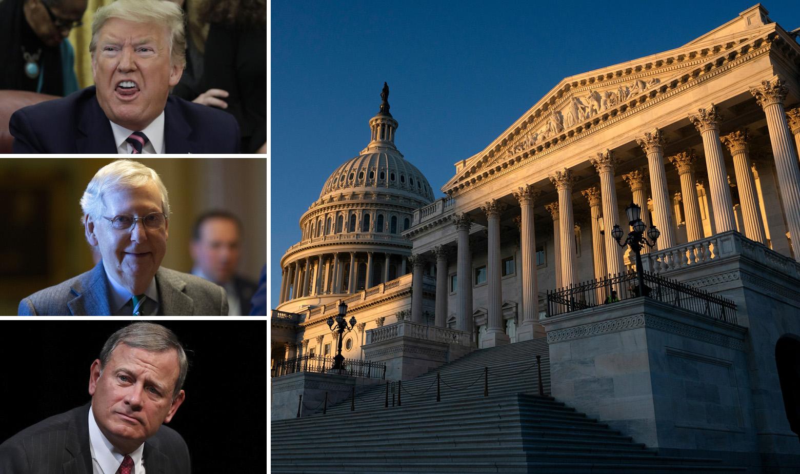 Donald Trump, John Roberts, Mitch McConnel, zgrada Kongresa