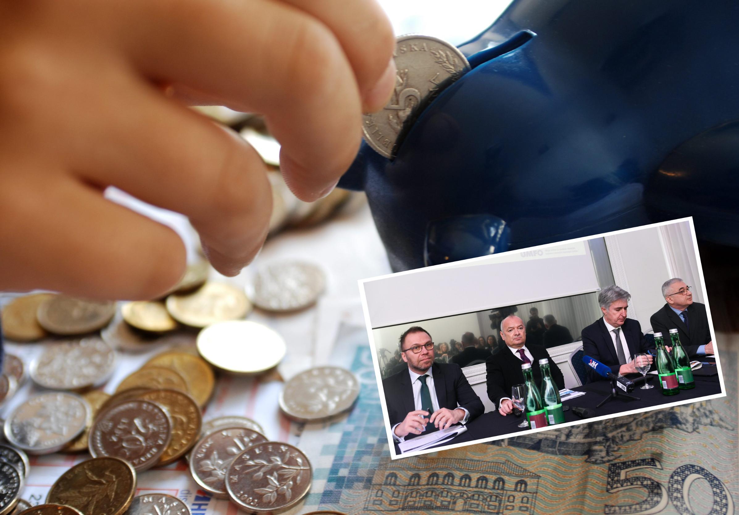 Ilustracija, predstaviljanje rezultata mirovinskih fondova