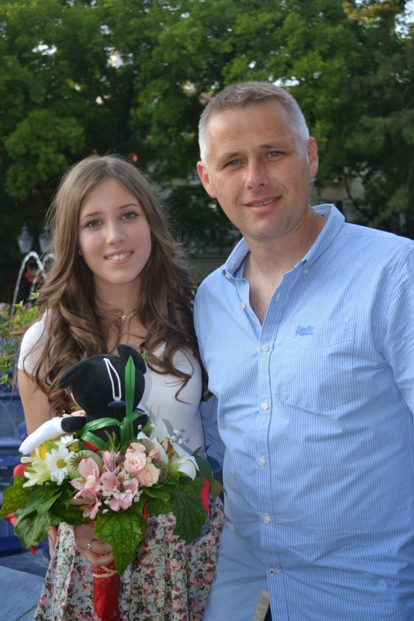 Igor Jurić s pokojnom kćeri Tijanom