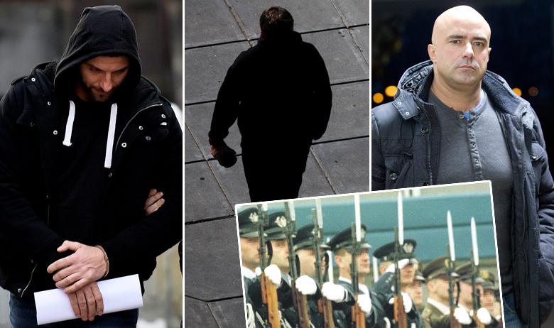 Lijevo: Andrija Vrhovac (već je u pritvoru); desno: Leon Lučić (jučer je doveden u policiju na prepoznavanje); Darko Purgar bio je pripadnik 1. hrvatskog gardijskog zadruga, elitne vojne postrojbe podčinjene izravno predsjedniku Franji Tuđmanu (umetak dolje desno)