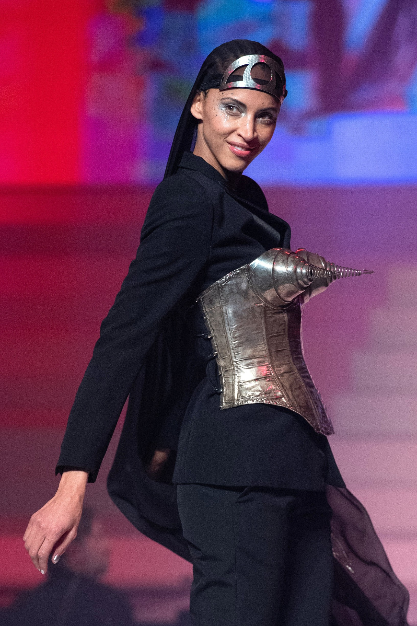 Noemie Lenoir walks the runway during the last Jean-Paul Gaultier Haute Couture Spring/Summer 2020 show as part of Paris Fashion Week in Paris, France on January 22, 2020., Image: 494341927, License: Rights-managed, Restrictions: , Model Release: no, Credit line: Marechal Aurore/ABACA / Abaca Press / Profimedia