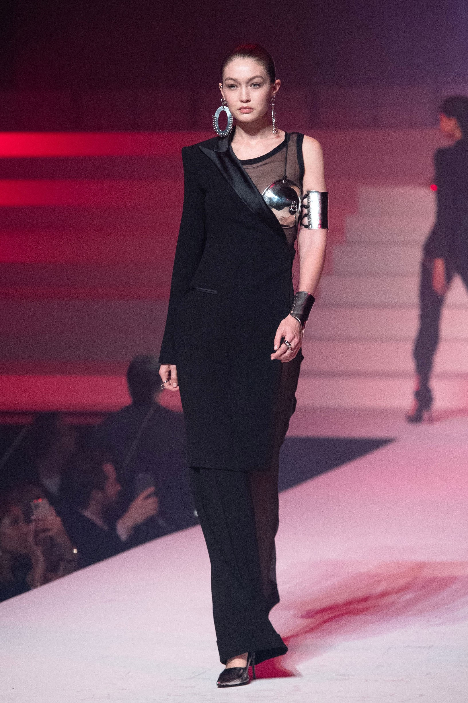 Gigi Hadid walks the runway during the last Jean-Paul Gaultier Haute Couture Spring/Summer 2020 show as part of Paris Fashion Week in Paris, France on January 22, 2020., Image: 494341939, License: Rights-managed, Restrictions: , Model Release: no, Credit line: Marechal Aurore/ABACA / Abaca Press / Profimedia