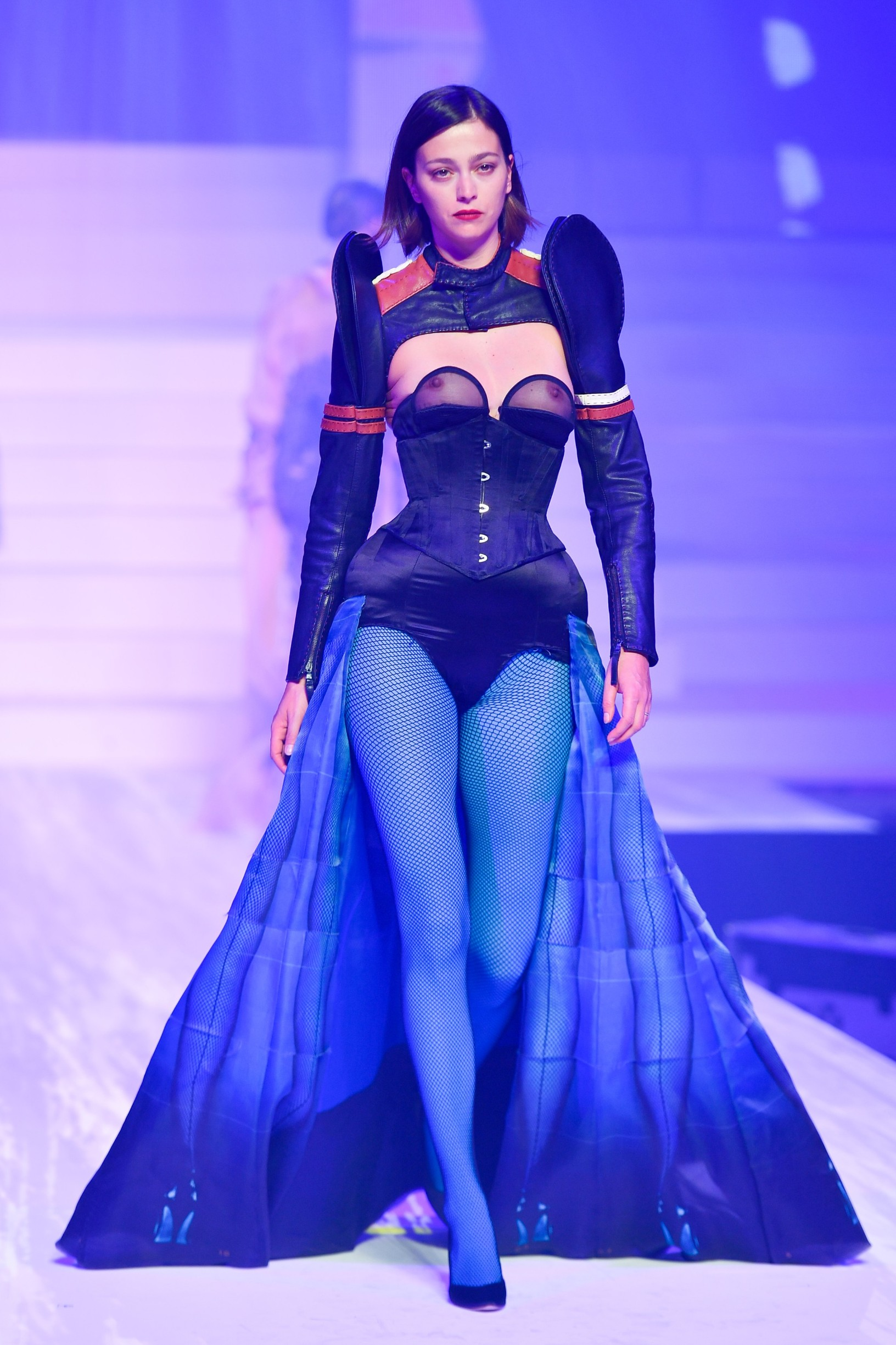 A model walks the runway during the last Fashion show by Jean-Paul Gaultier in Paris on January 22nd 2020, Image: 494344897, License: Rights-managed, Restrictions: , Model Release: no, Credit line: Pecquenard+Ferey / KCS Presse / Profimedia