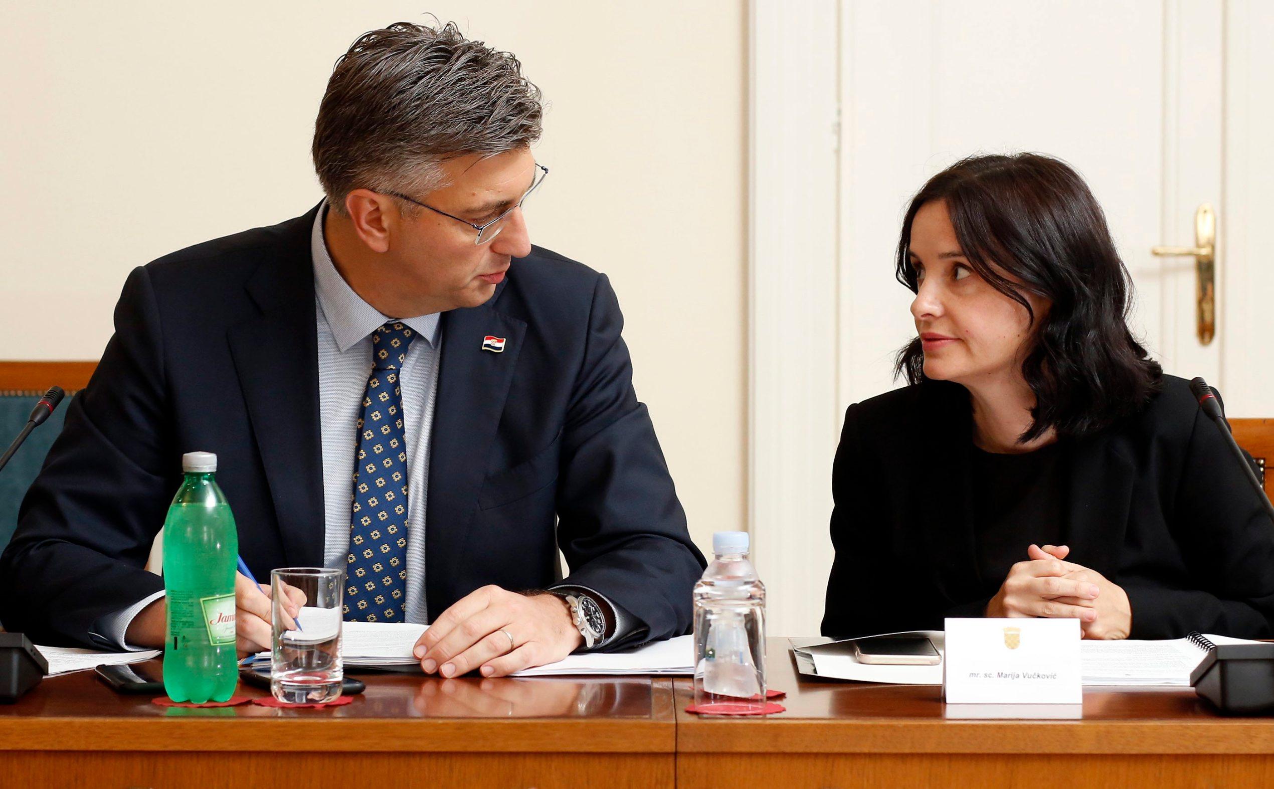 Prime Minister Andrej Plenković and Agriculture Minister Marija Vučković