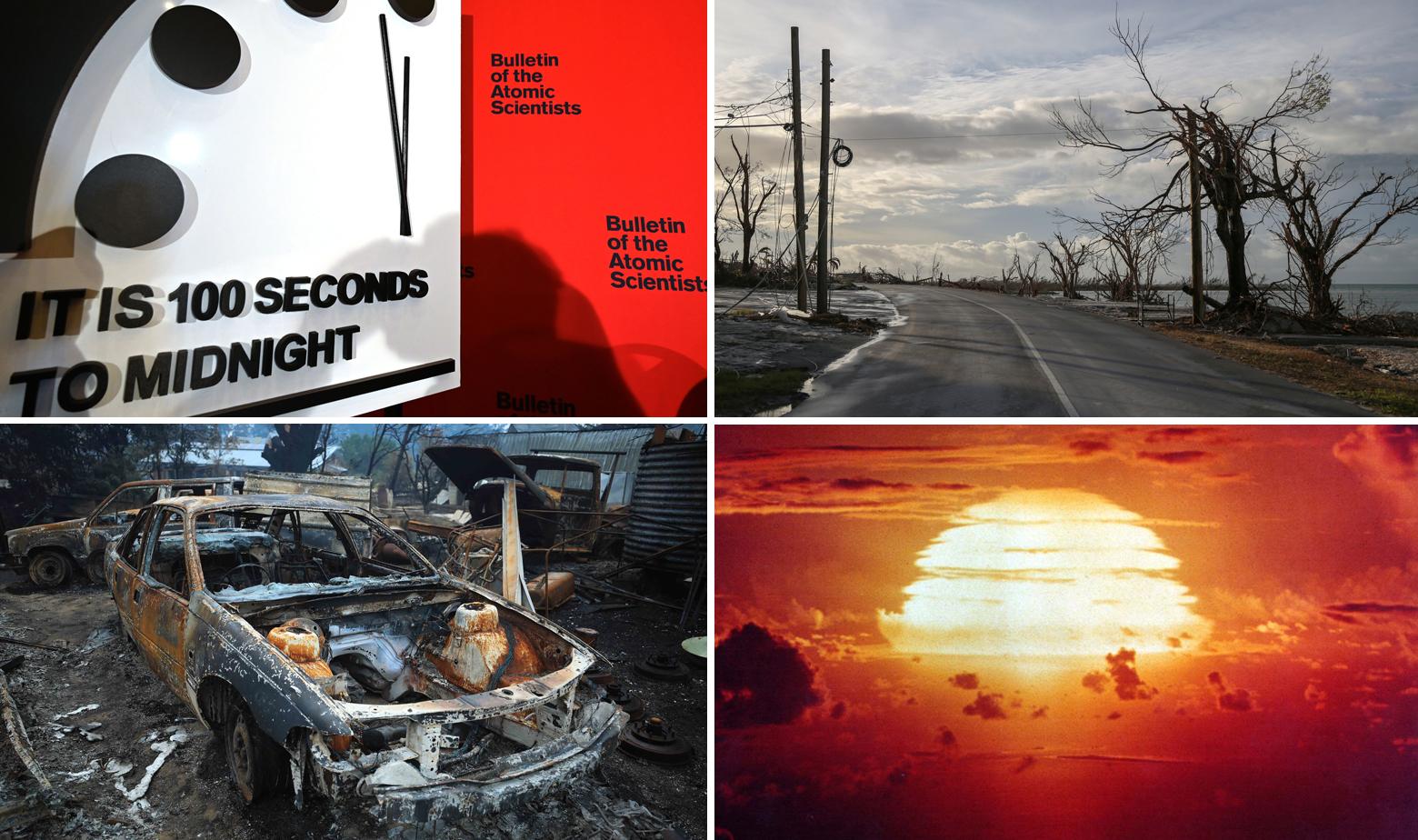 Sat sudnjeg dana, ilustracije katastrofe