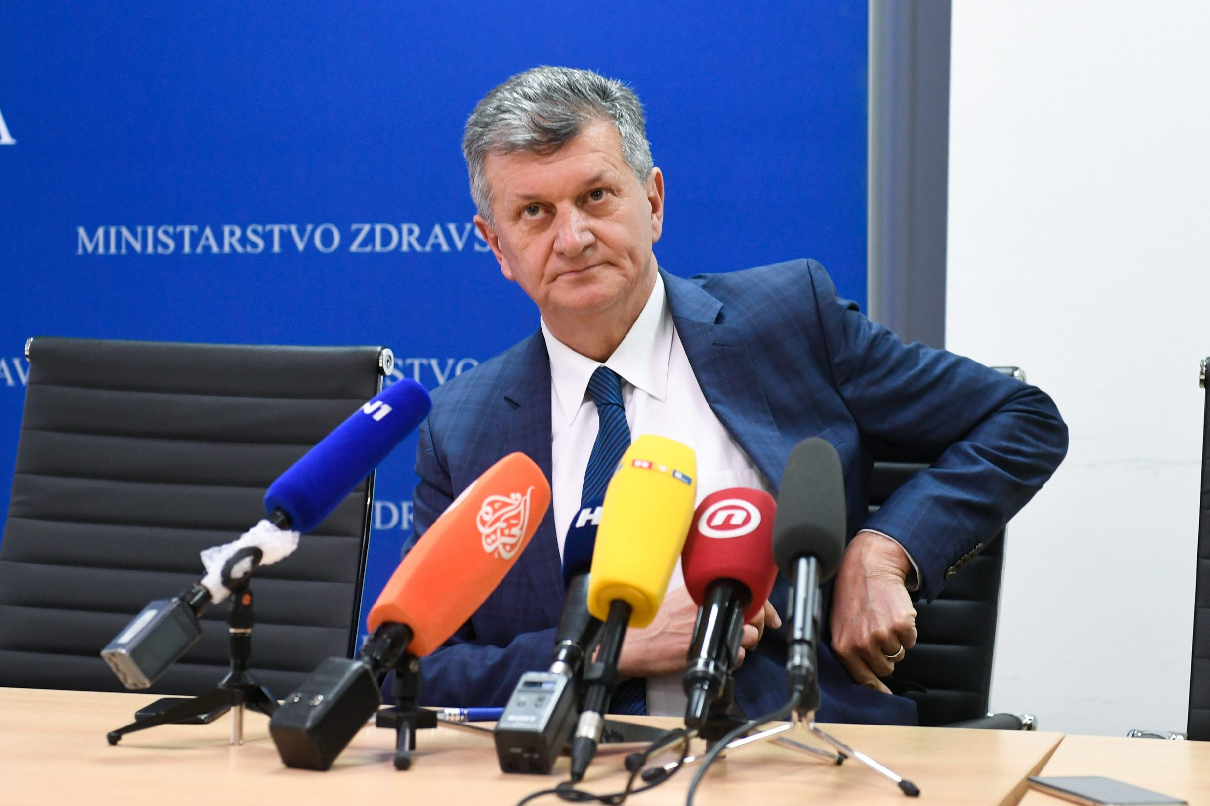 Zagreb, 240120. Ministarstvo zdravlja. Press konferencija Milana Kujundzica , ministra zdravlja. Foto: Goran Mehkek / CROPIX
