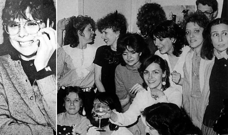 Lydia Sklevicky (lijevo); Proslava Lydijina rođendana 1983. godine (desno)