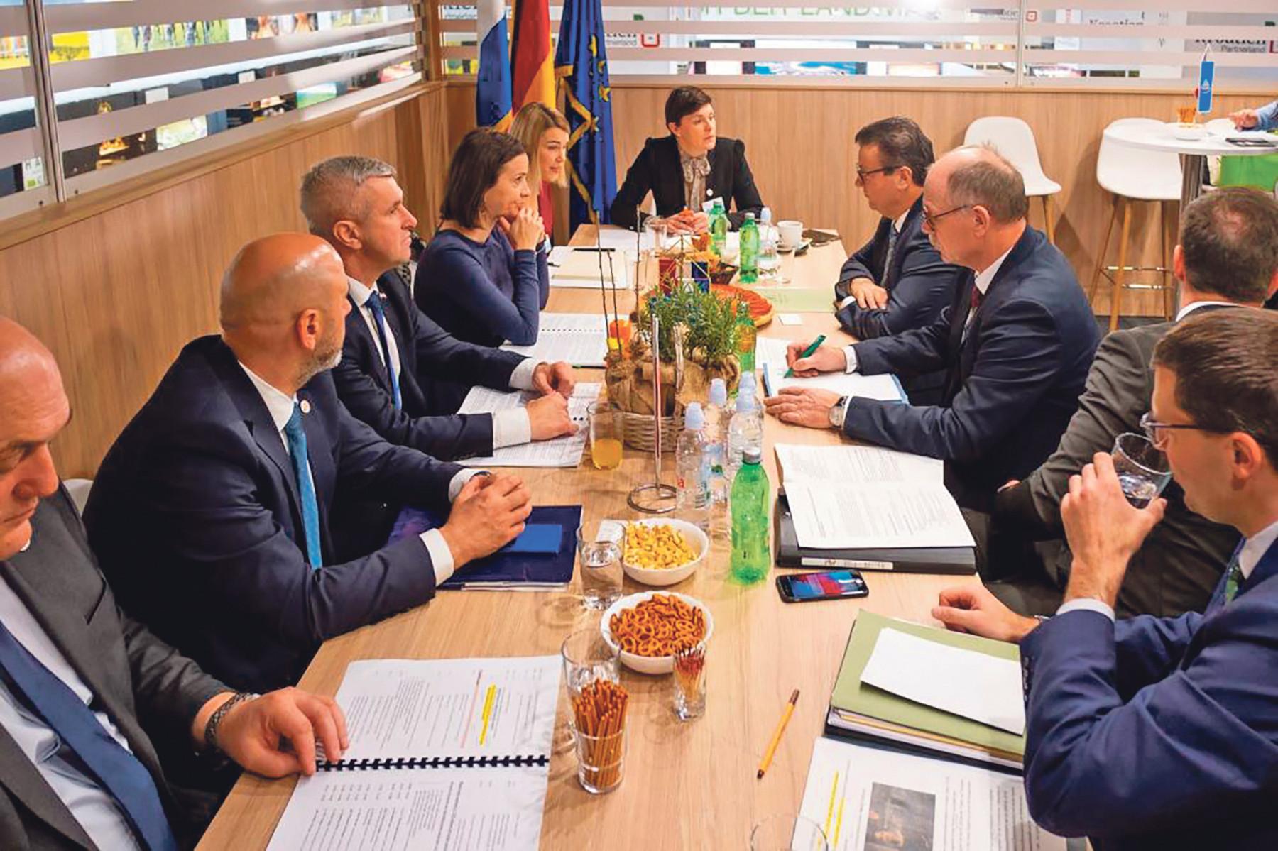 Sastanak ministrice Vučković i ministra ruralnog razvoja i zaštite potrošača njemačke savezne države Baden-Württemberg Petera Hauka