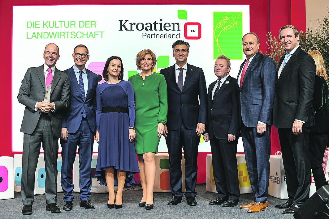 Dr. Christian Göke, Michael Müller, Marija Vučković, Julia Klöckner, Andrej Plenković, Janusz Wojciechowski, Joachim Rukwied, Dr. Christian von Boetticher