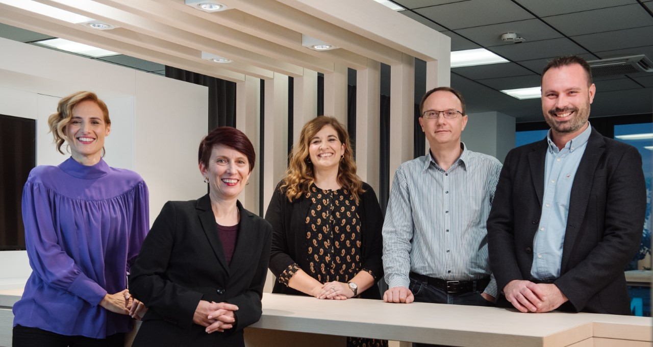 Anita Letica, Marijana Bubalo, Jasmina Tome, Marin Mlinarić i Stanko Kršlović, članovi Uprave Philip Morris Zagreb