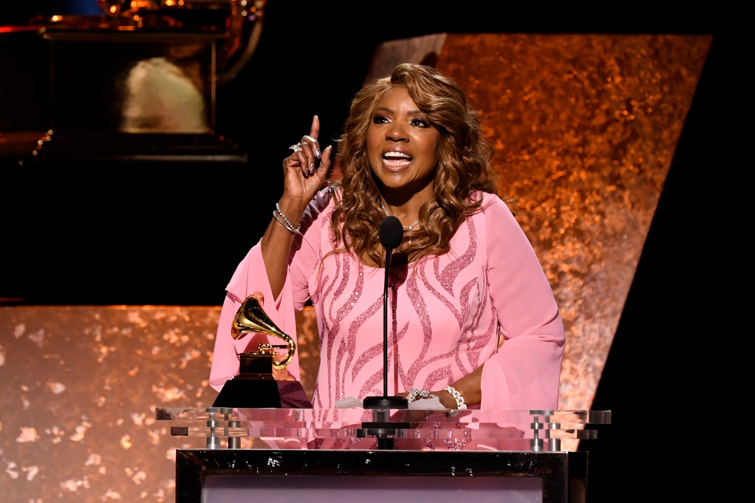 Jan 26, 2020; Los Angeles, CA, USA;  Gloria Gaynor accepts the award for best roots gospel album for ŇTestimonyÓ  during the 62nd annual GRAMMY Awards Premiere Ceremony on Jan. 26, 2020 at the Microsoft Theater in Los Angeles, Calif., Image: 494931116, License: Rights-managed, Restrictions: *** World Rights ***, Model Release: no, Credit line: USA TODAY Network / ddp USA / Profimedia
