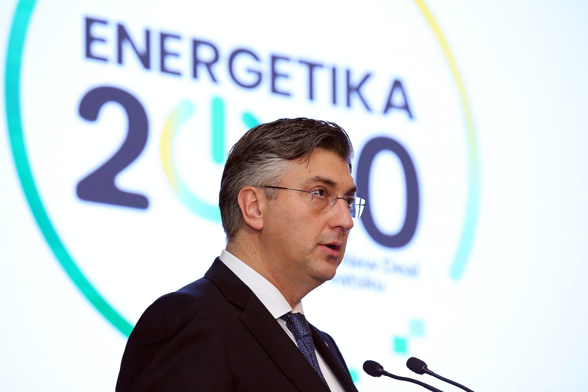 Zagreb, 280120. Hotel Esplanade. Konferencija Jutarnjeg lista Energetika 2020.Green New Deal za Hrvatsku. Na fotografiji: Andrej Plenkovic. Foto: Davor Pongracic / CROPIX
