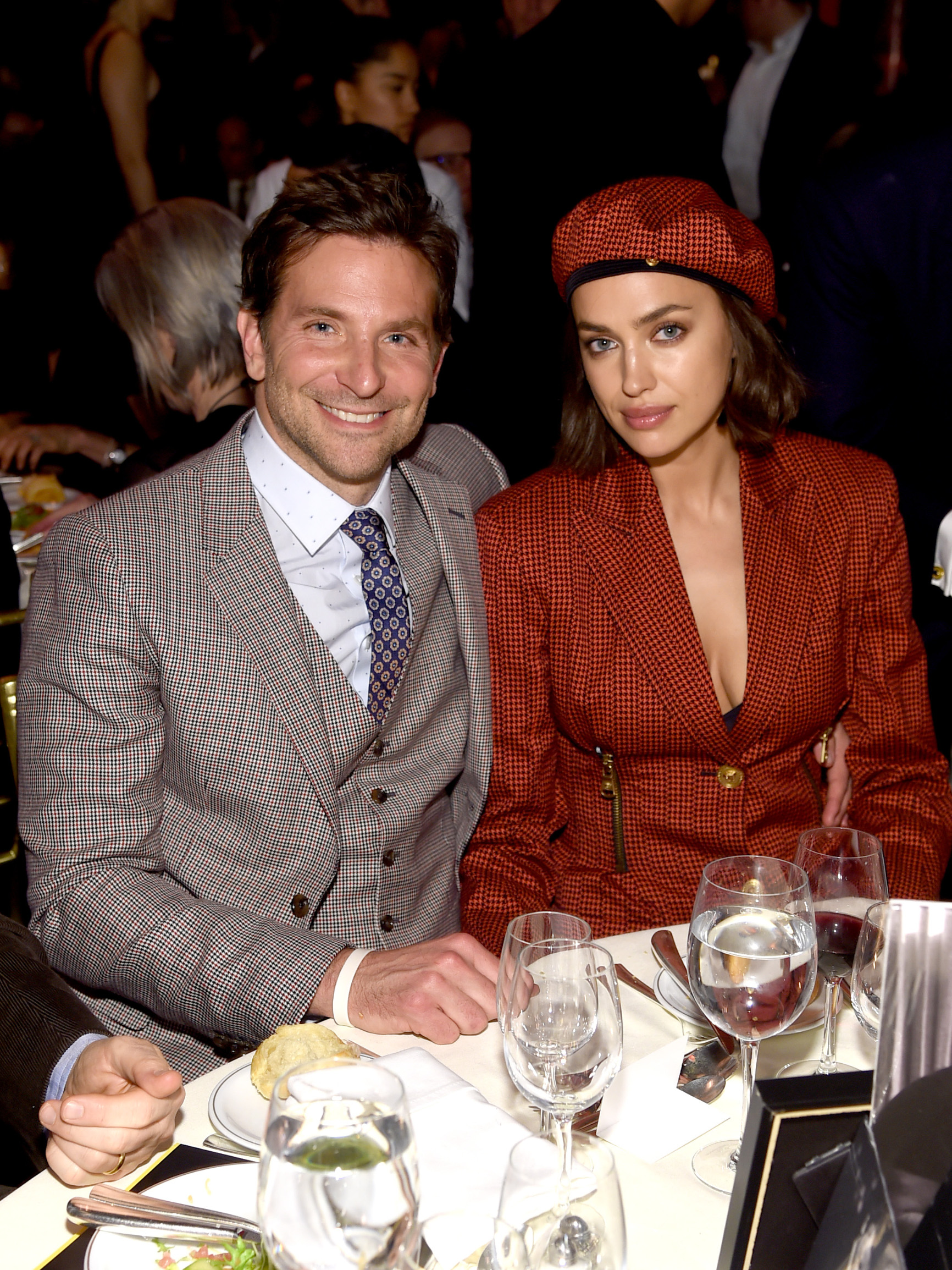 NEW YORK, NY - JANUARY 08: Bradley Cooper and Irina Shayk attend The National Board of Review Annual Awards Gala at Cipriani 42nd Street on January 8, 2019 in New York City.  (Photo by Jamie McCarthy/Getty Images for National Board of Review)