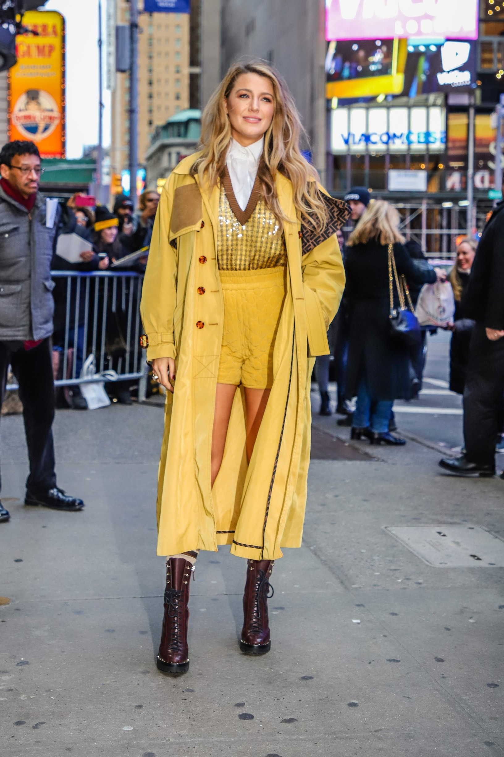January 28, 2020, New York, New York, U.S: Actress BLAKE LIVELY is seen leaving a television show Good Morning America in the Times Square in New York City., Image: 495276675, License: Rights-managed, Restrictions: , Model Release: no, Credit line: Vanessa Carvalho / Zuma Press / Profimedia