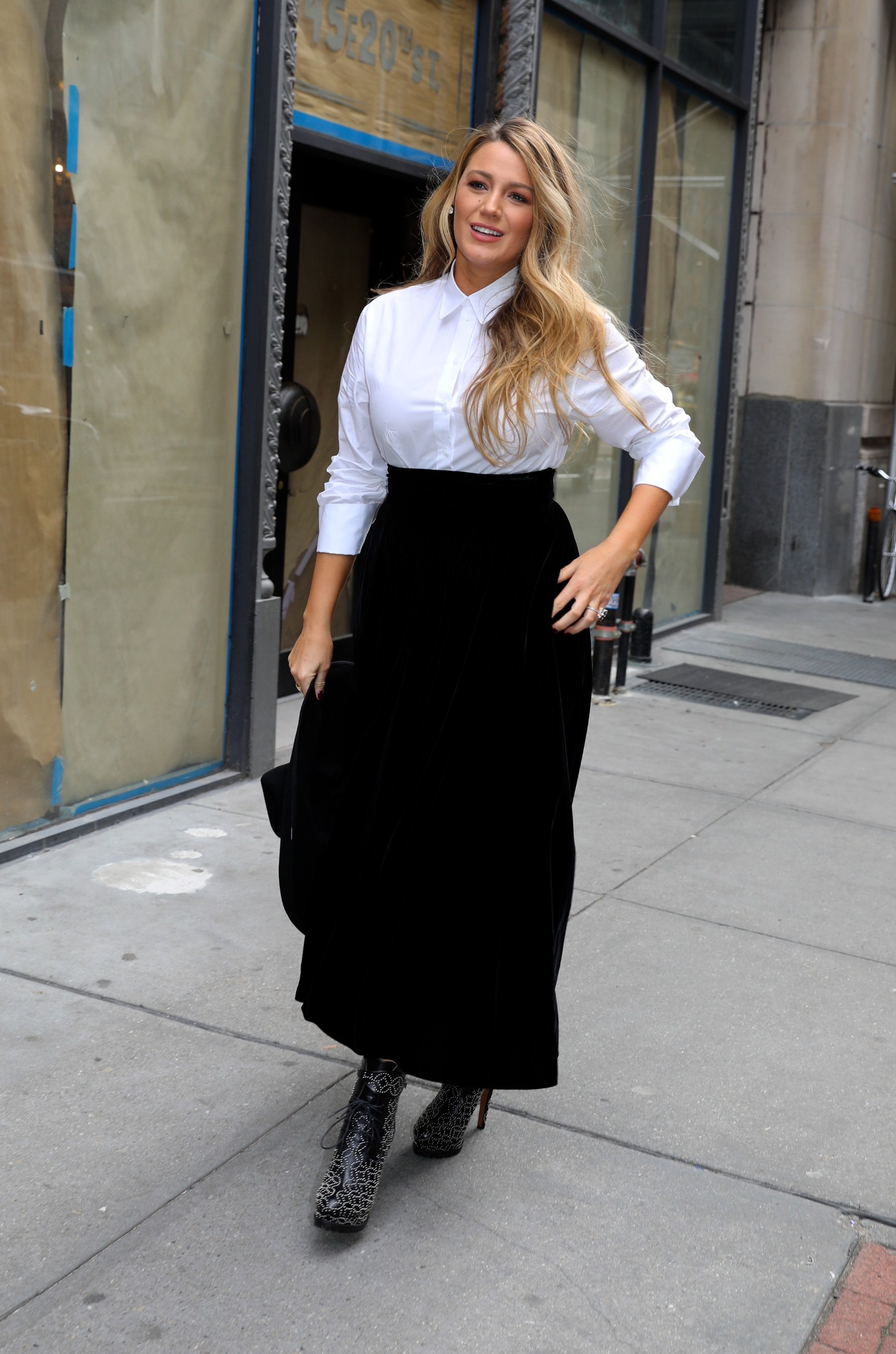 Blake Lively looks stunning in 3 different outfit changes as she promotes her new movie 'The Rhythm Section' in Uptown, Manhattan. New York City, New York - Tuesday January 28, 2020., Image: 495325018, License: Rights-managed, Restrictions: N, Model Release: no, Credit line: JP/PacificCoastNews / Pacific coast news / Profimedia