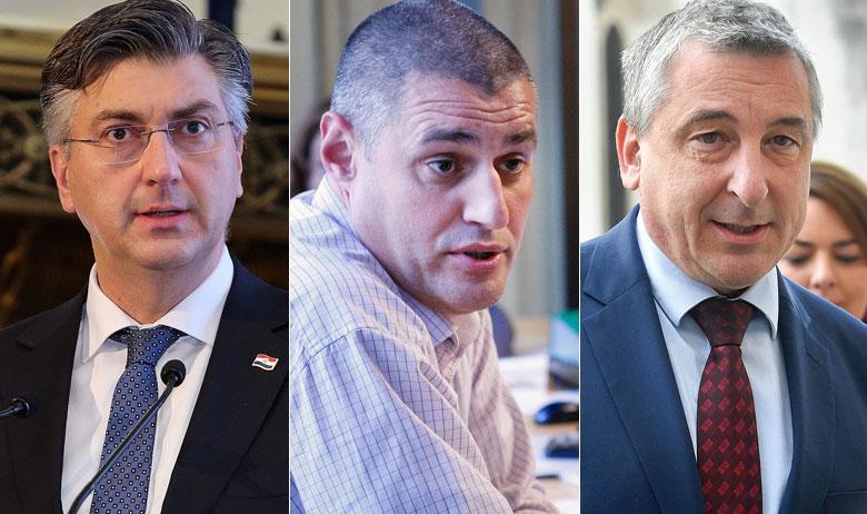 Andrej Plenković, Krešimir Žunić i Predrag Štromar