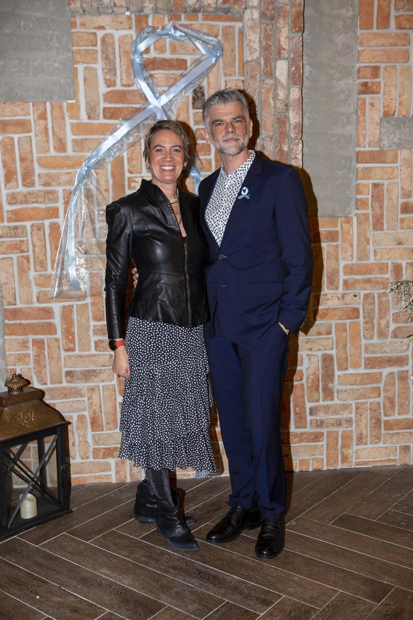 Svi za njega donatorska vecera  Voditelj veceri Milan Majerovic-Stilinovic i supruga Pilar Majerovic  Loft restoran, Westgate. Fotograf Matej Dokic 280120