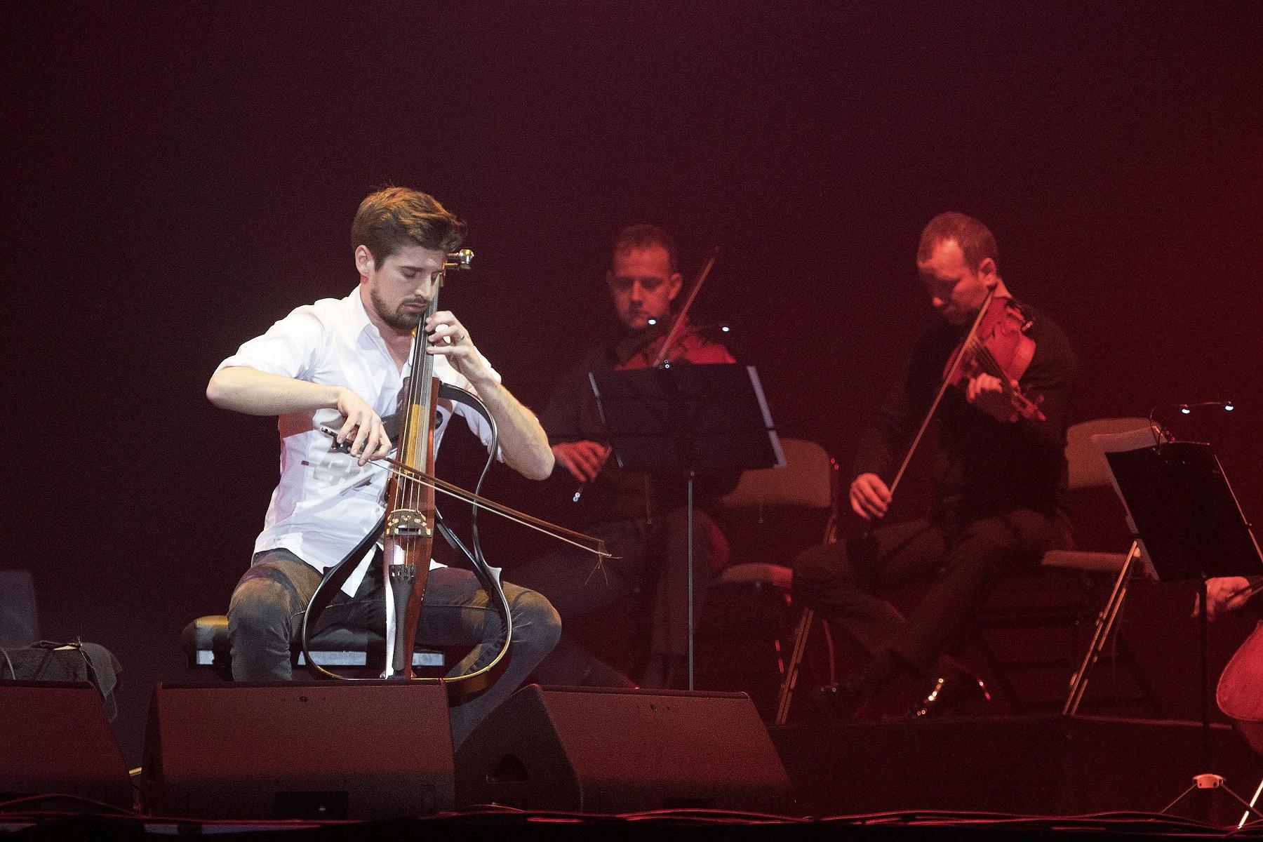 Split,160318. 2Cellos, Stjepan Hauser i Luka Sulic u sklopu svjetske turneje Score odrzali koncert u Spaladium Areni.  Na fotografiji: Luka Sulic. Foto: Mario Todoric / CROPIX