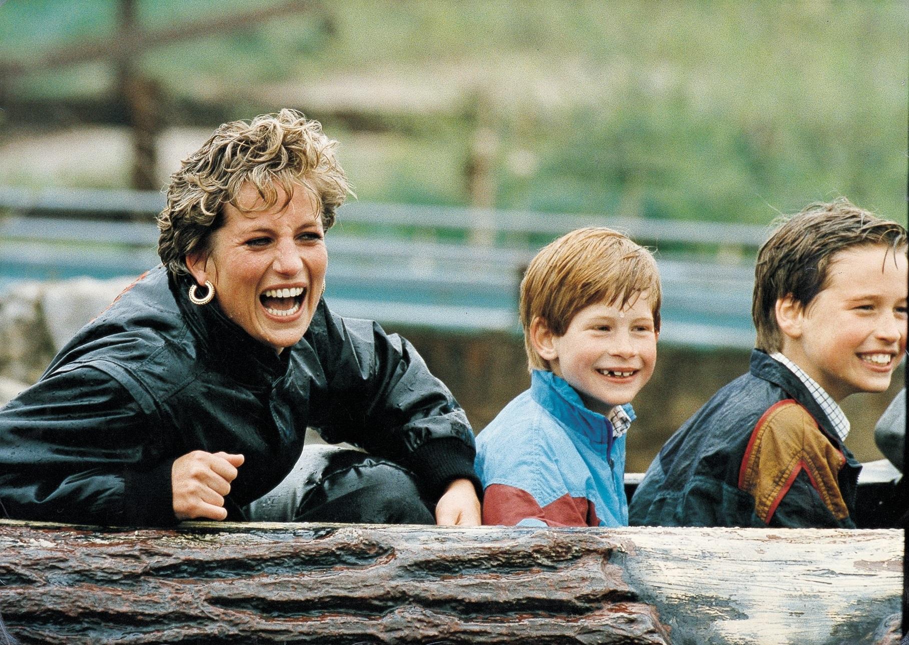 Pokojna Lady Di sa sinovima Harryjem i Williamom