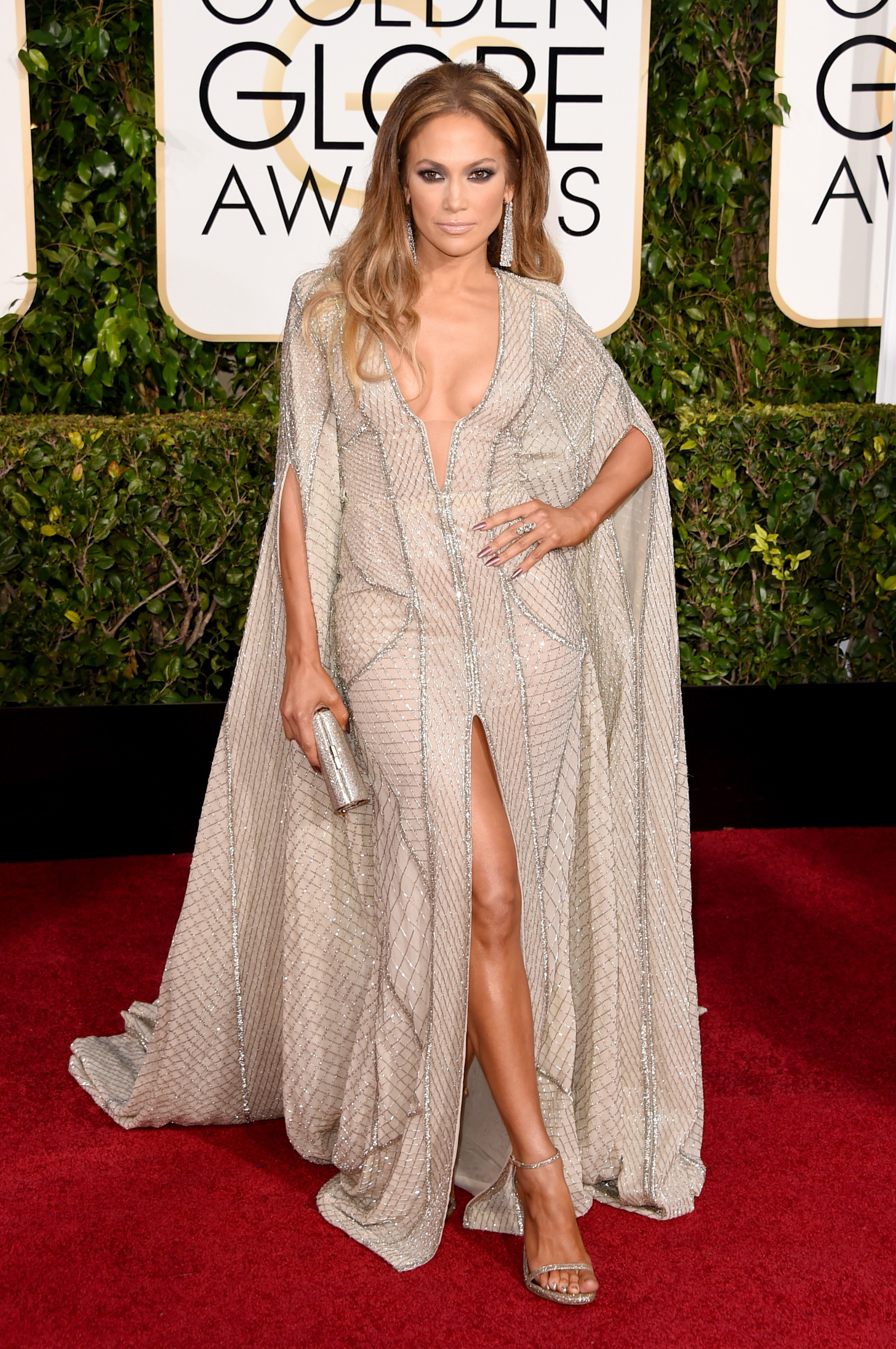 BEVERLY HILLS, CA - JANUARY 11: Actress Jennifer Lopez attends the 72nd Annual Golden Globe Awards at The Beverly Hilton Hotel on January 11, 2015 in Beverly Hills, California.  (Photo by Jason Merritt/Getty Images)