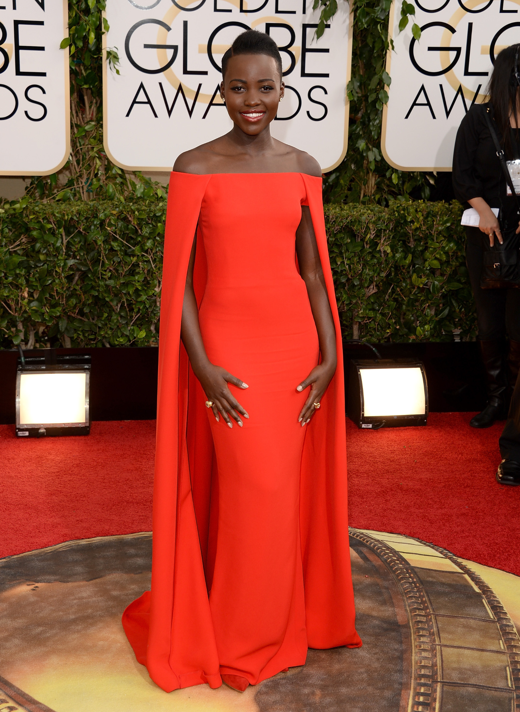BEVERLY HILLS, CA - JANUARY 12:  Actress Lupita Nyong'o attends the 71st Annual Golden Globe Awards held at The Beverly Hilton Hotel on January 12, 2014 in Beverly Hills, California.  (Photo by Jason Merritt/Getty Images)