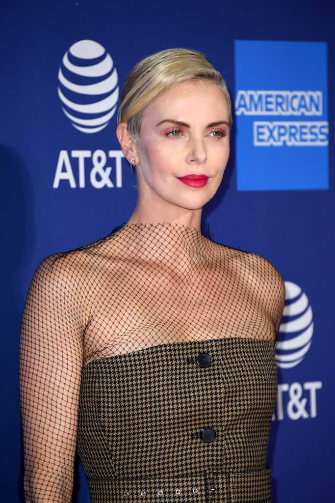 PALM SPRINGS, CALIFORNIA - JANUARY 02: Charlize Theron attends the 31st Annual Palm Springs International Film Festival Film Awards Gala at Palm Springs Convention Center on January 02, 2020 in Palm Springs, California. (Photo by Jon Kopaloff/Getty Images)