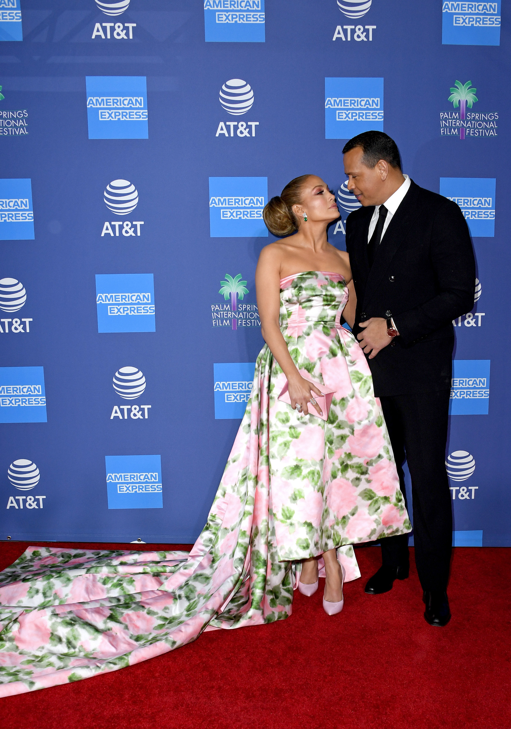 PALM SPRINGS, CALIFORNIA - JANUARY 02: (L-R) Jennifer Lopez and Alex Rodriguez attend the 31st Annual Palm Springs International Film Festival Film Awards Gala at Palm Springs Convention Center on January 02, 2020 in Palm Springs, California. (Photo by Jon Kopaloff/Getty Images)