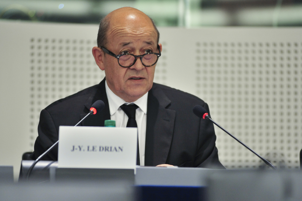 French FM Jean-Yves Le Drian