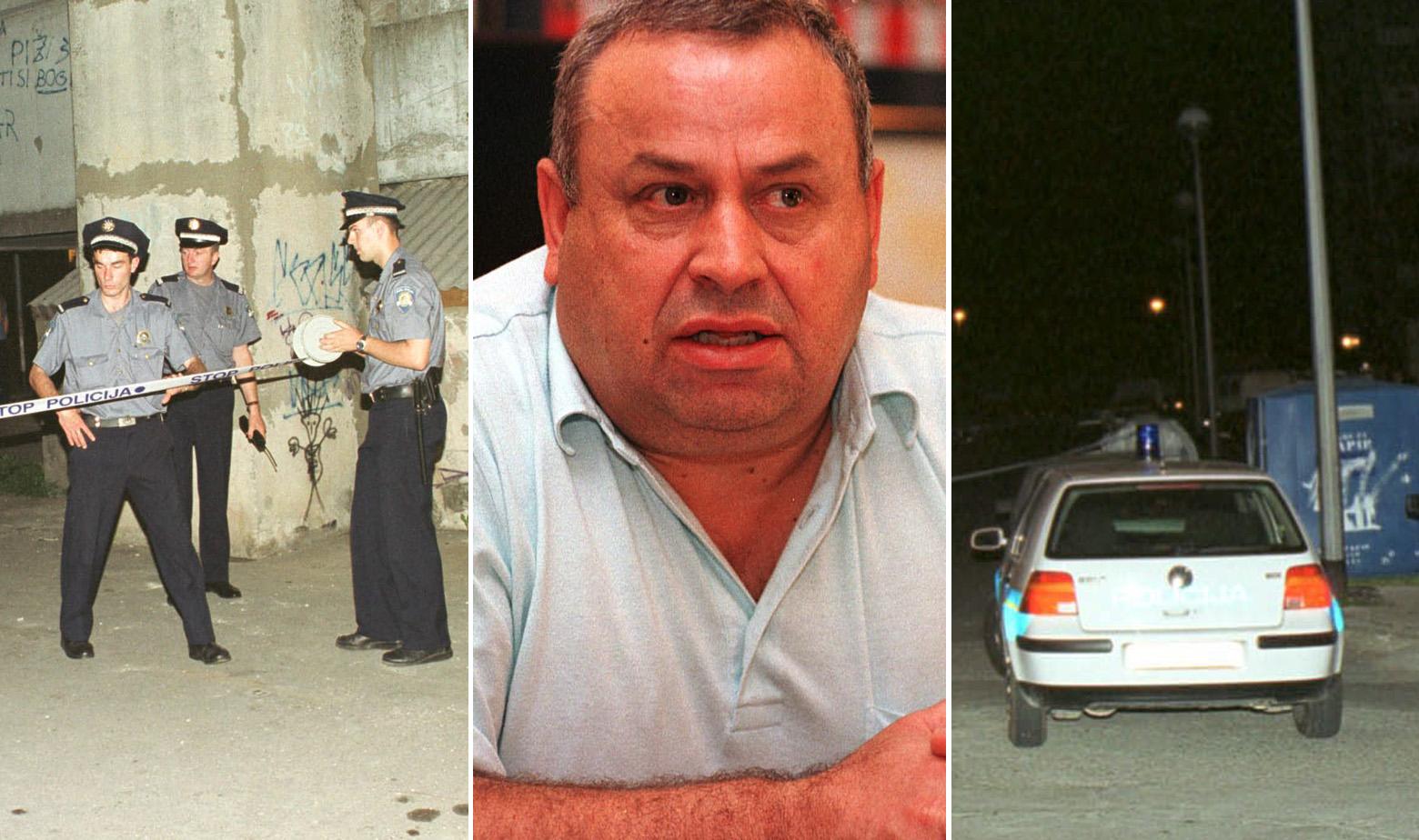 Ibrahim Dedić (u sredini) i očevid nakon njegova ubojstva
