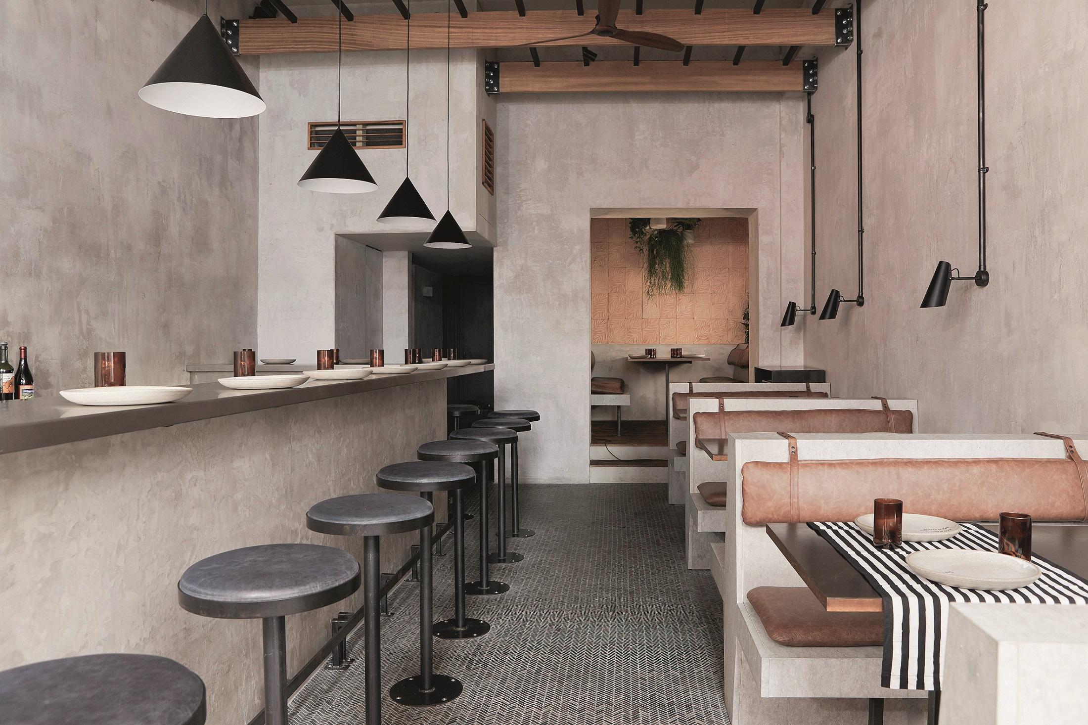 Dan Preston Studio - Paradise - interijer šrilankanskog restorana u Londonu nadahnut brutalizmom