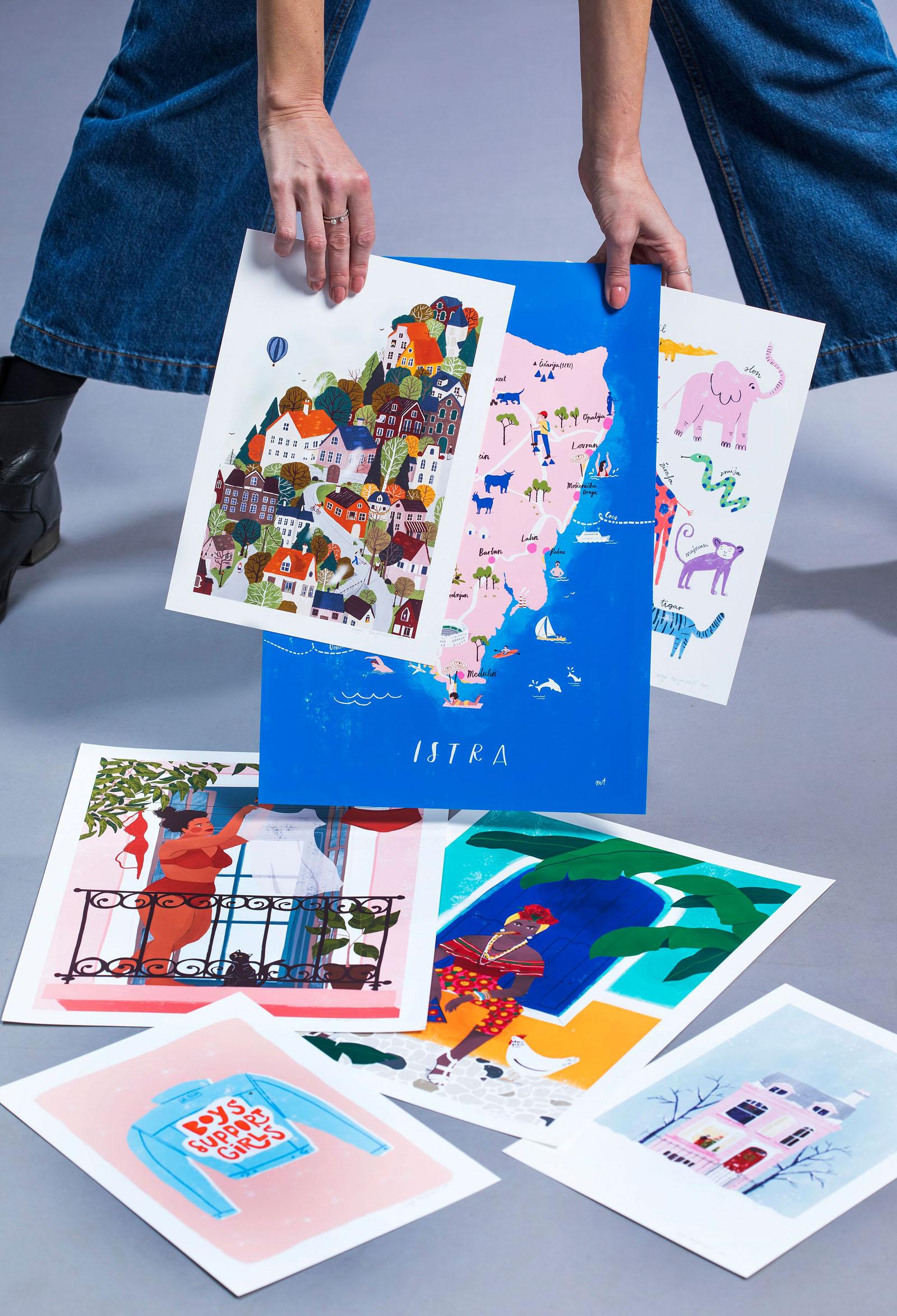 Zagreb, 041119. Studio Hanza media. Made in Croatia. Maja Tomljanovic, mlada slikarica. Foto: Biljana Blivajs / CROPIX