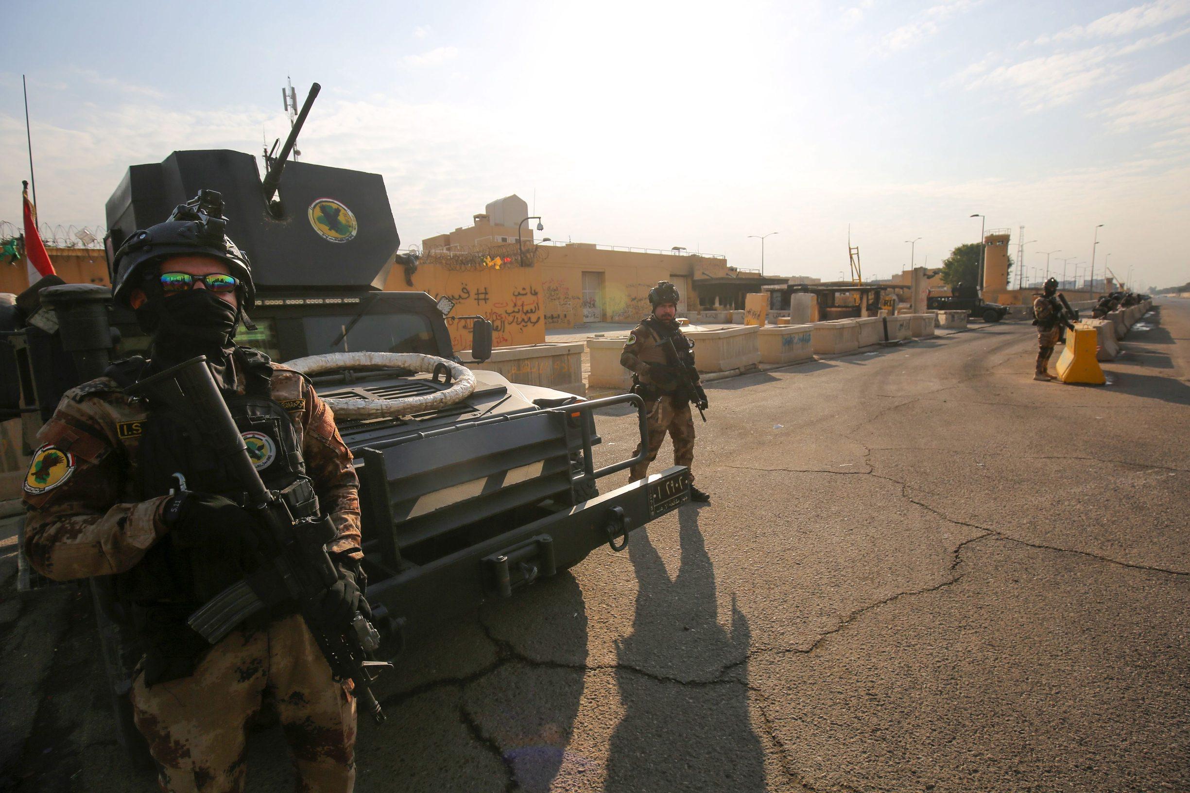 Irački specijalci čuvaju američko veleposlanstvo u Bagdadu